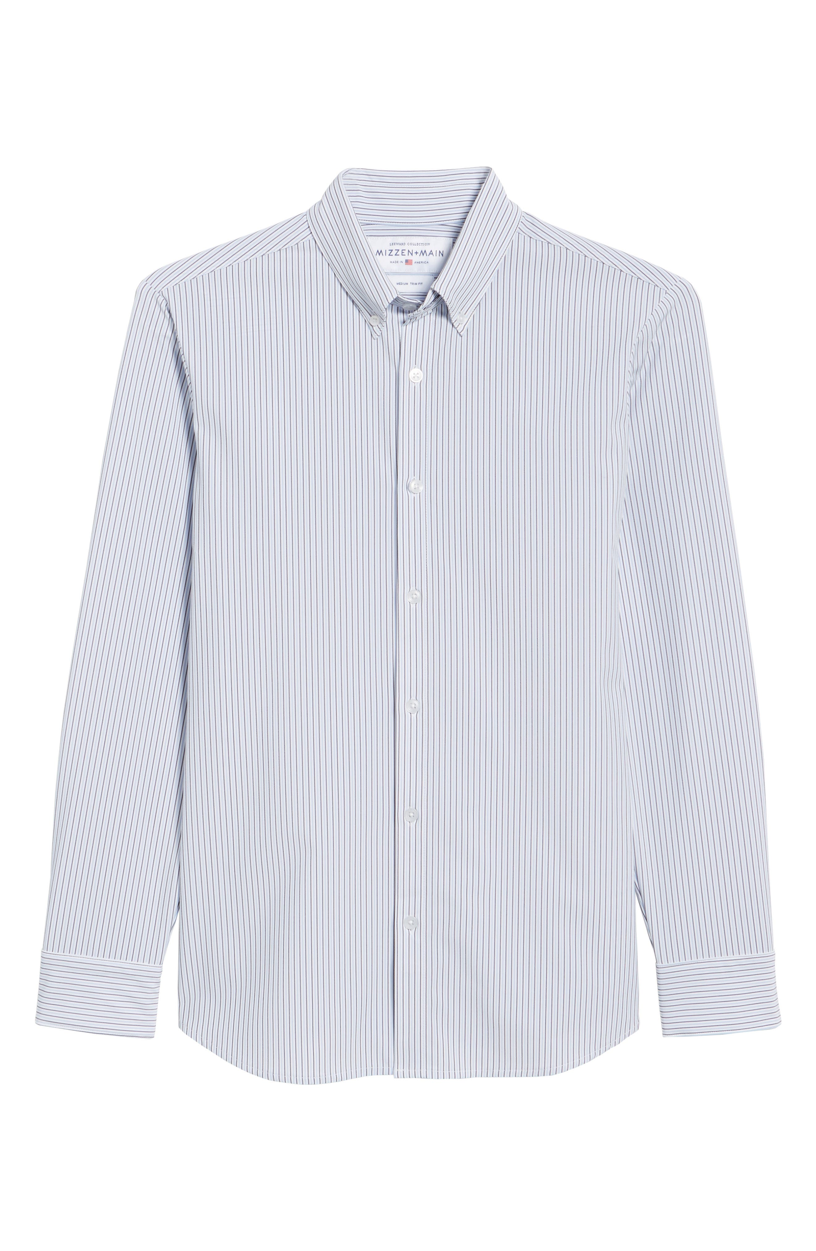 Callahan Stripe Sport Shirt,                             Alternate thumbnail 6, color,                             477