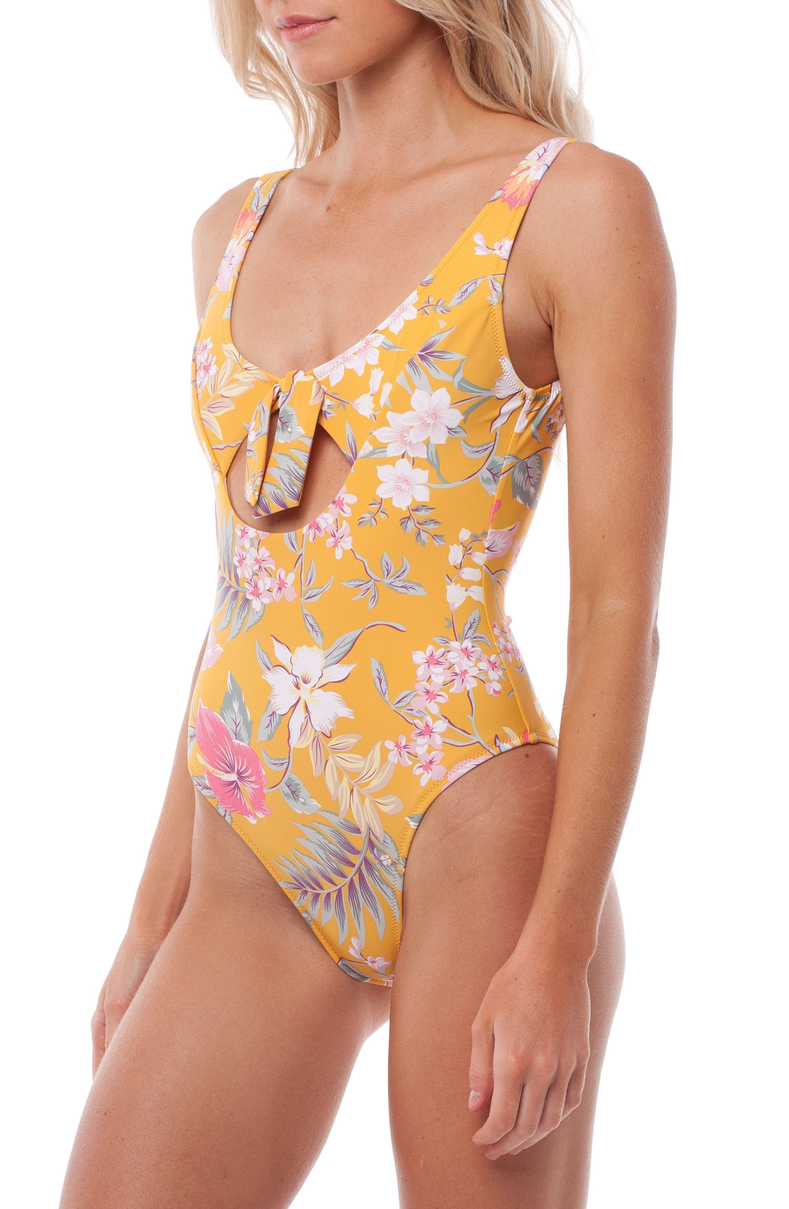 Aruba One-Piece Swimsuit,                             Alternate thumbnail 2, color,                             MARIGOLD