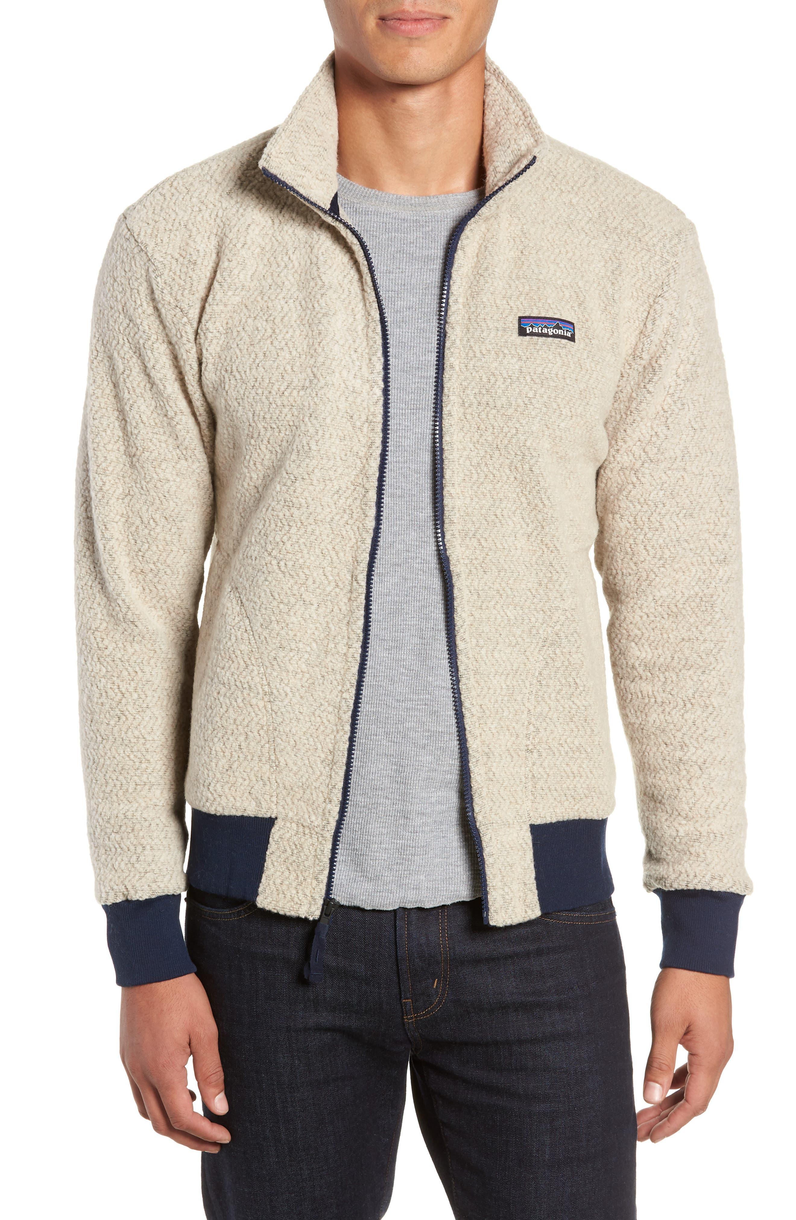 Woolyester Fleece Jacket,                             Main thumbnail 1, color,                             OATMEAL HEATHER