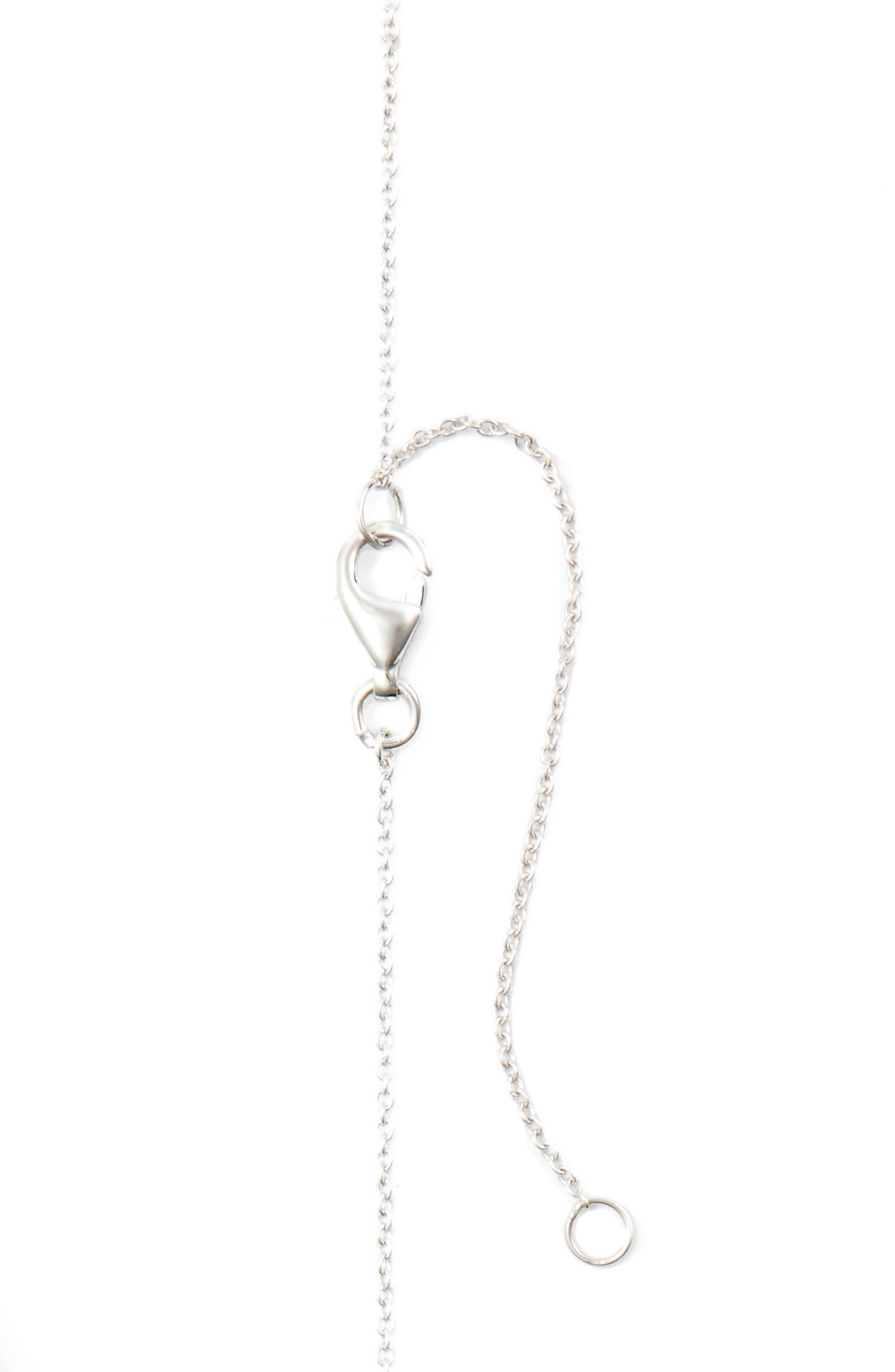 Three Triangle Diamond Pendant Necklace,                             Alternate thumbnail 3, color,                             WHITE GOLD