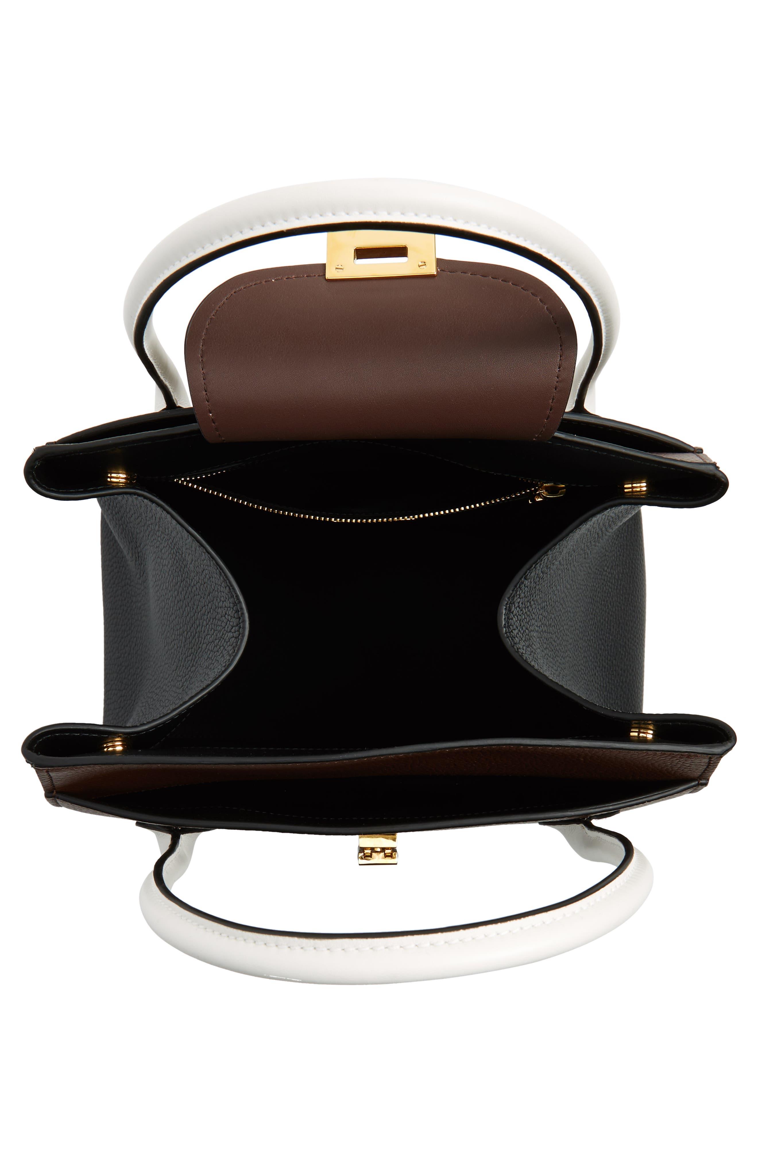Large Bancroft Tricolor Leather Top Handle Satchel,                             Alternate thumbnail 4, color,                             210