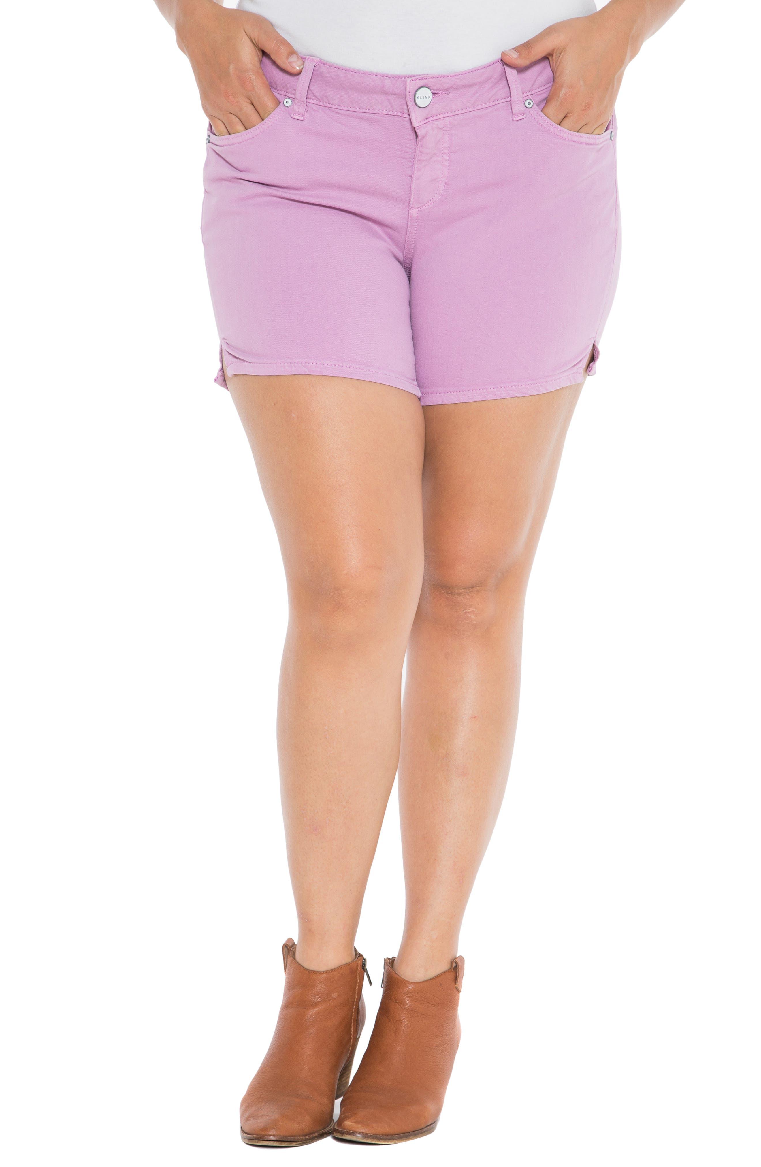 Camo Side Slit Shorts,                             Main thumbnail 1, color,                             MAUVE MIST
