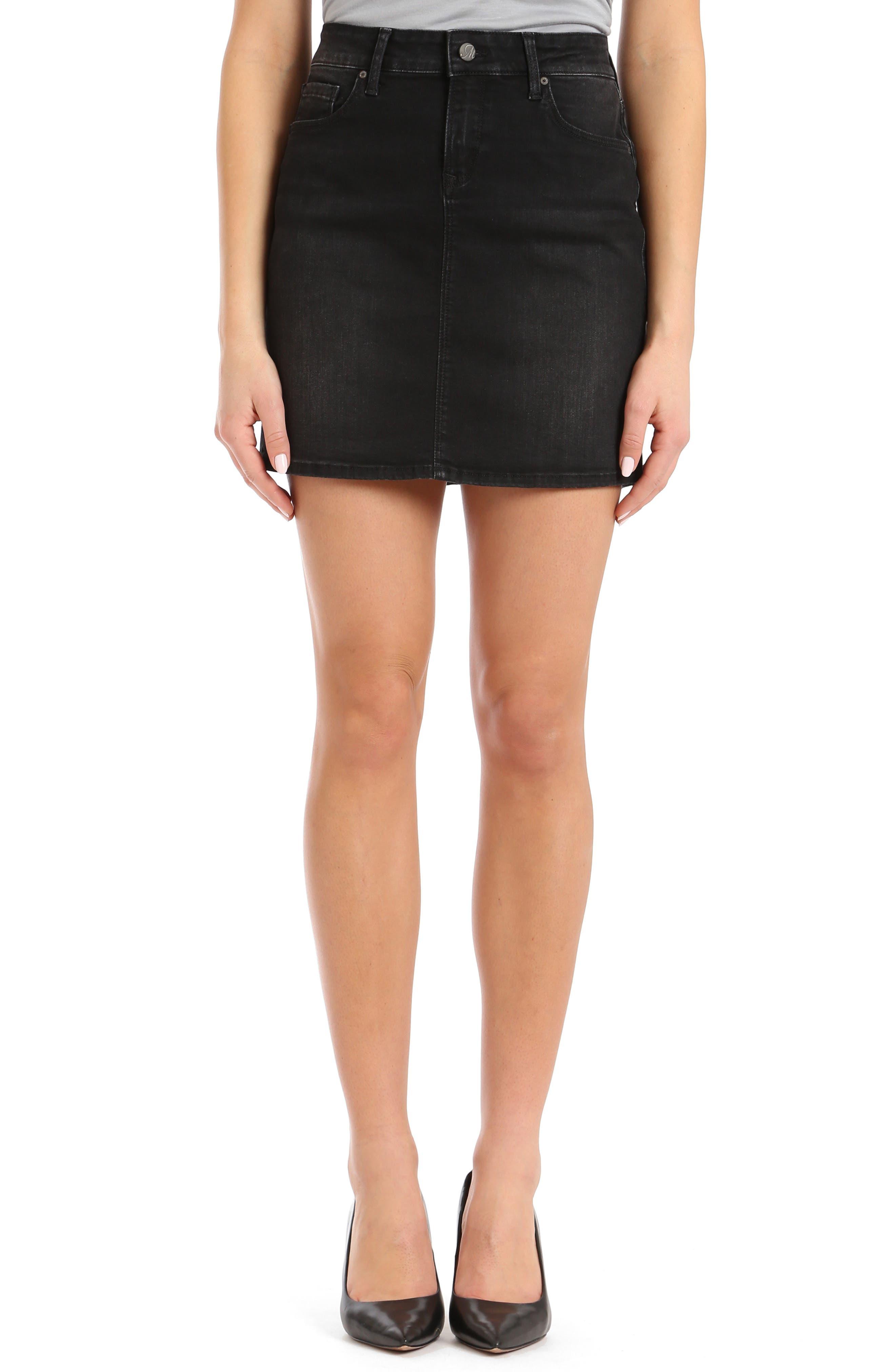 Mavi Jeans Rita Denim Miniskirt, Black