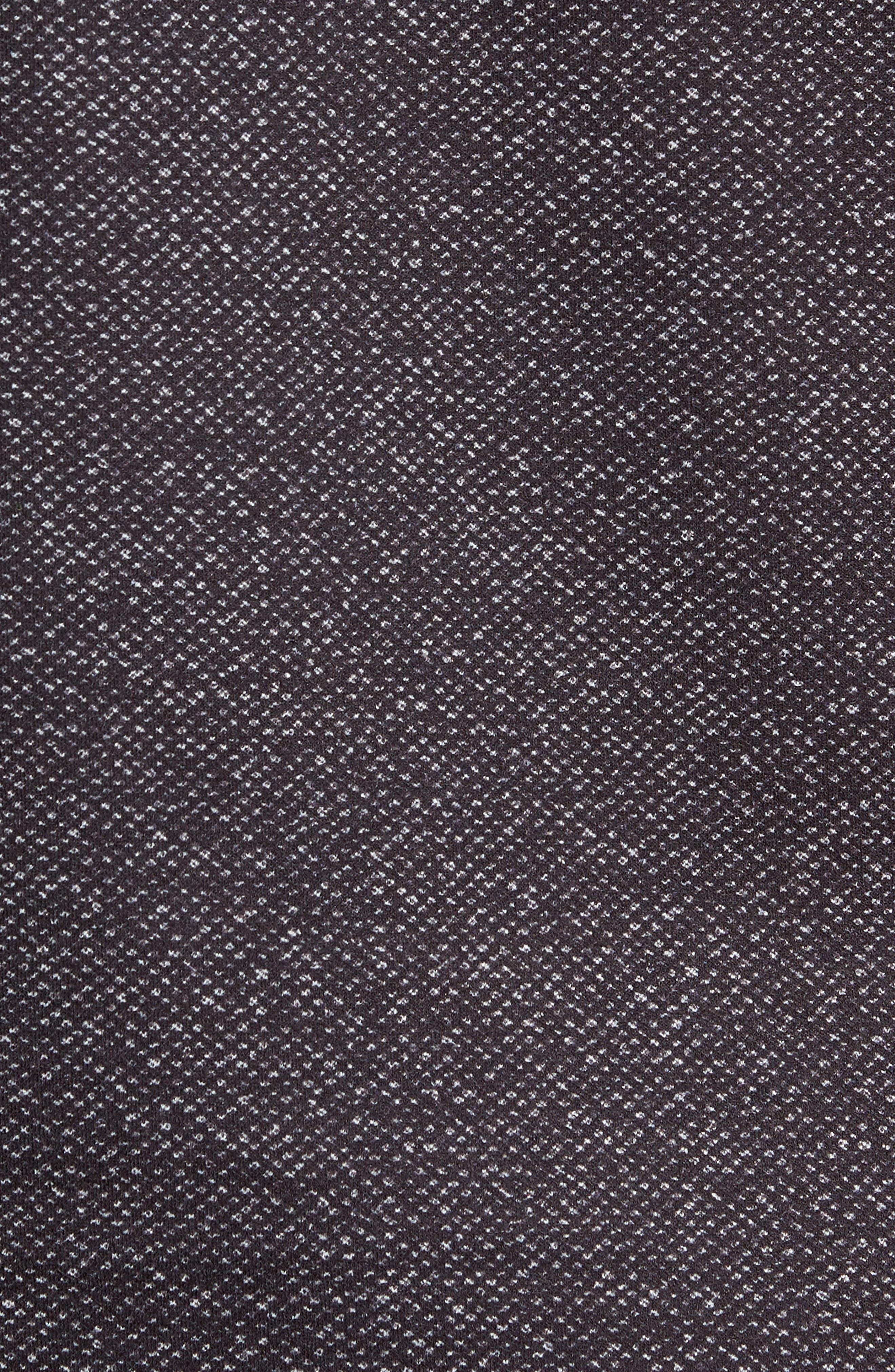 Oscar Quarter Zip Slim Fit Sweater,                             Alternate thumbnail 5, color,                             CHARCOAL