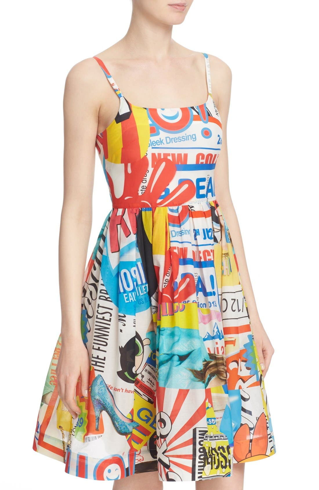 'The Powerpuff Girls<sup>®</sup>' Fit & Flare Dress,                             Alternate thumbnail 6, color,                             122
