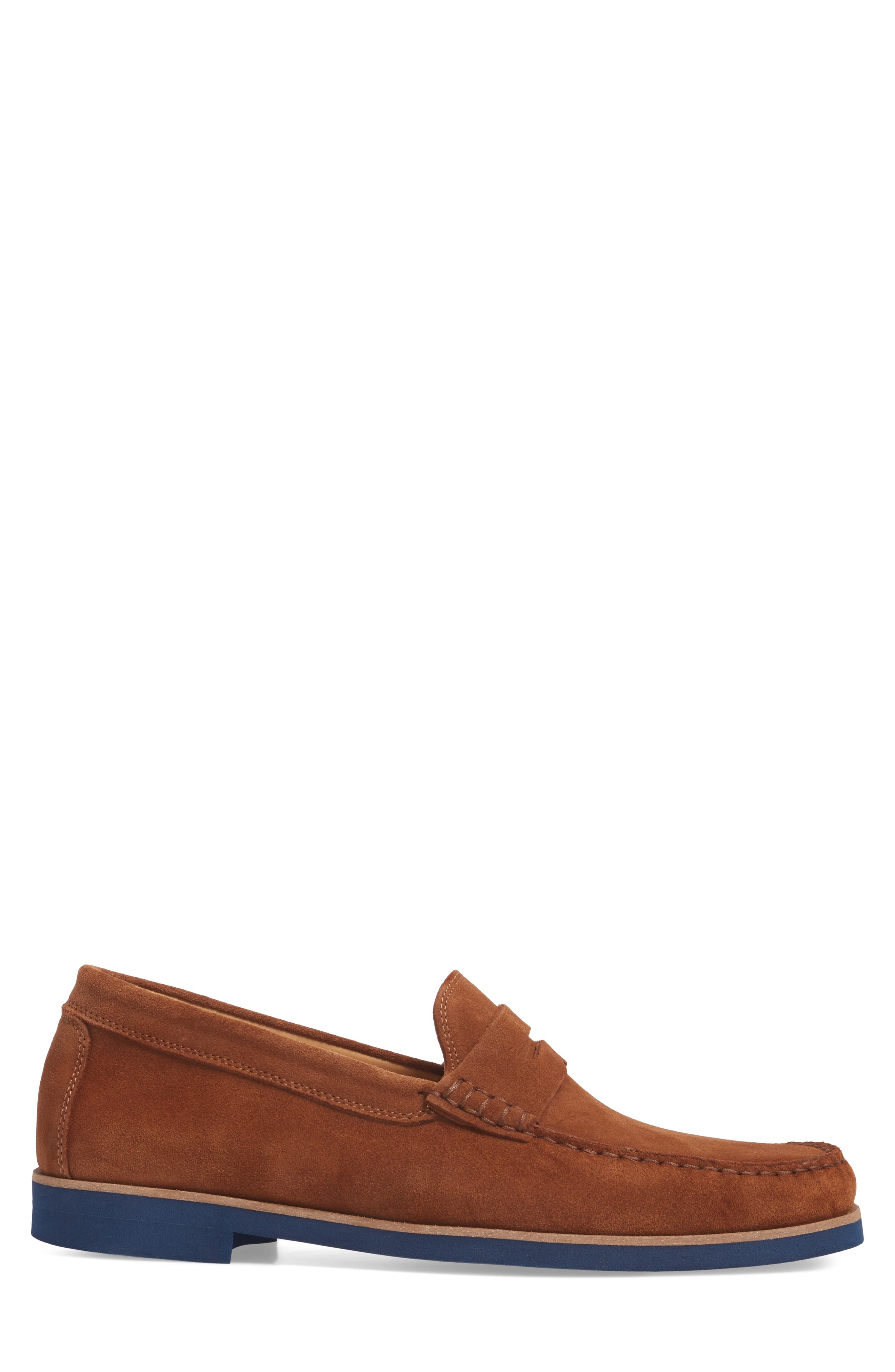 Kennedy Penny Loafer,                             Alternate thumbnail 3, color,                             MEDIUM BROWN SUEDE