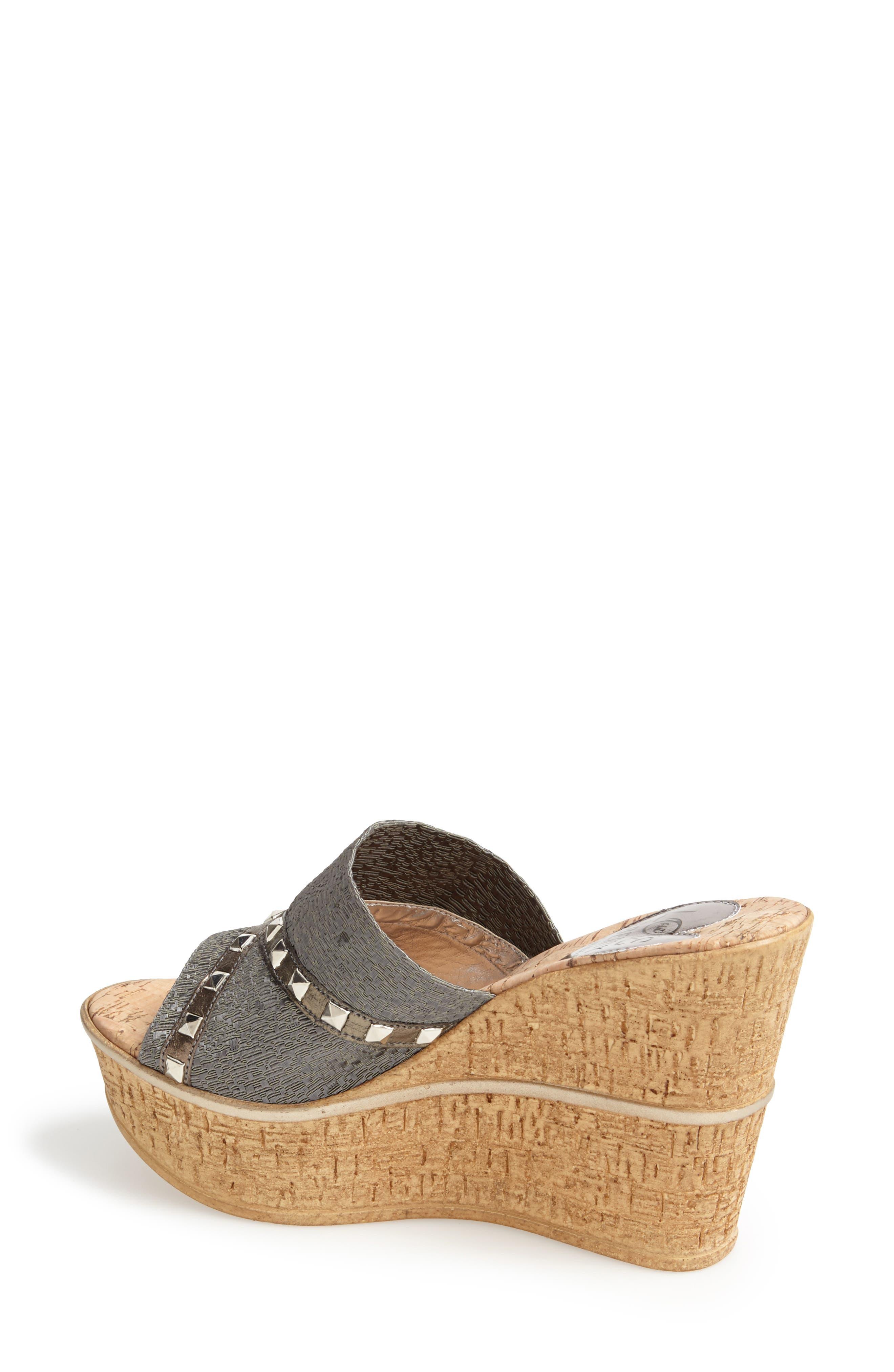 'Margo' Wedge Slide Sandal,                             Alternate thumbnail 5, color,                             040