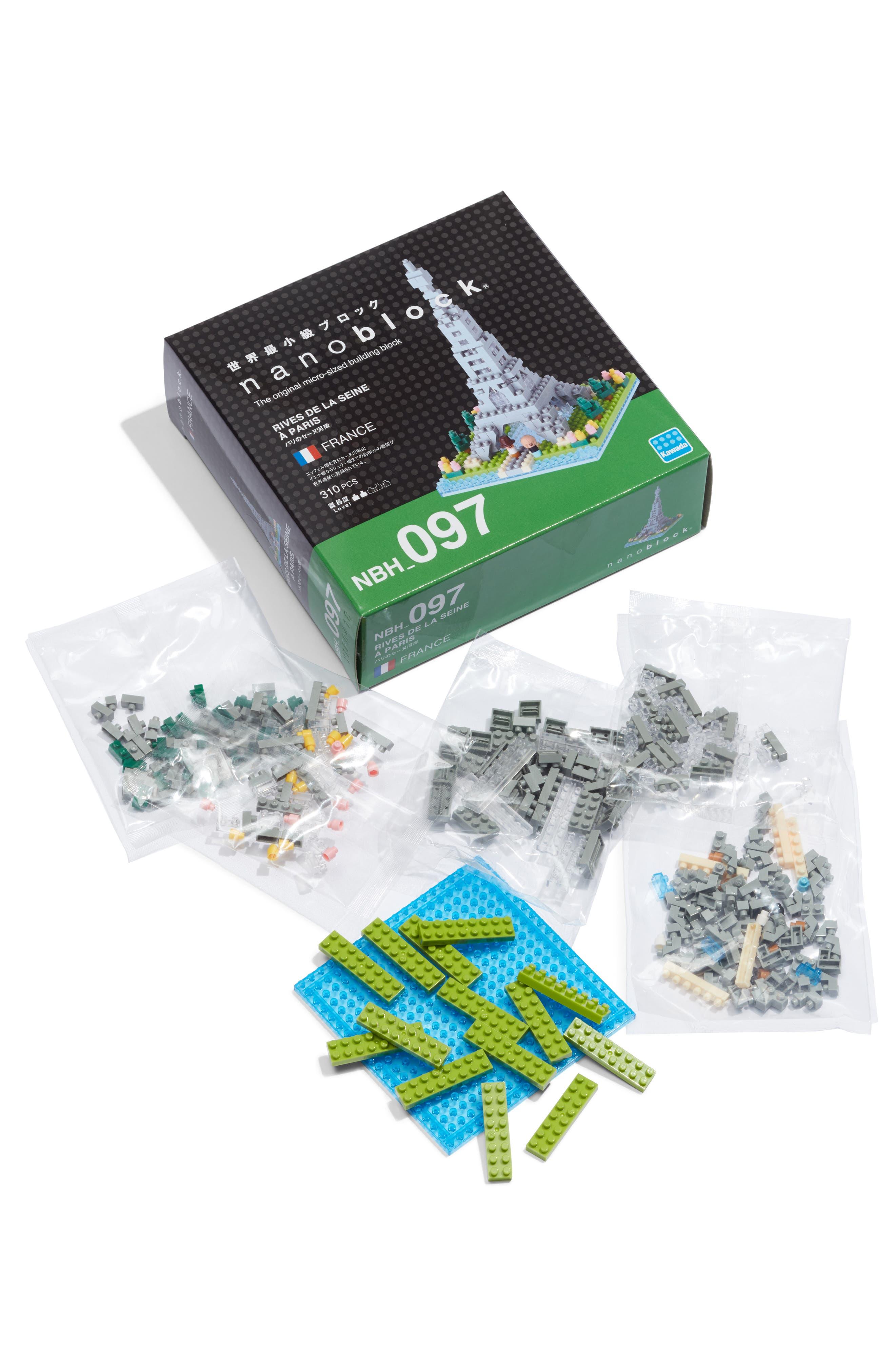 Nanoblock Sights To See - Rives de la Seine à Paris 310-Piece Micro Sized Building Block Kit,                             Main thumbnail 1, color,                             960
