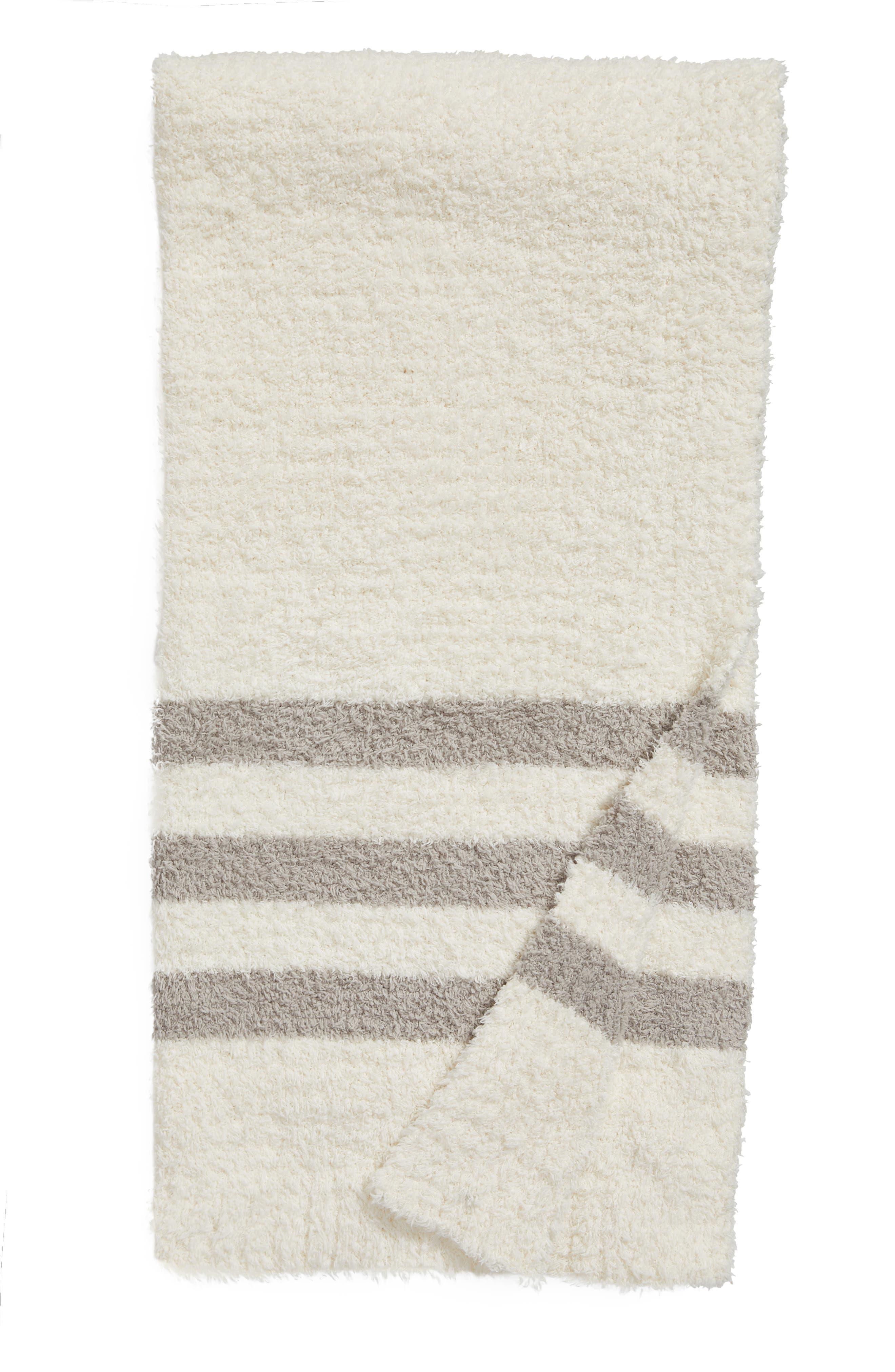 Barefoot Dreams Cozychic<sup>®</sup> Tri Stripe Throw Blanket,                             Main thumbnail 4, color,