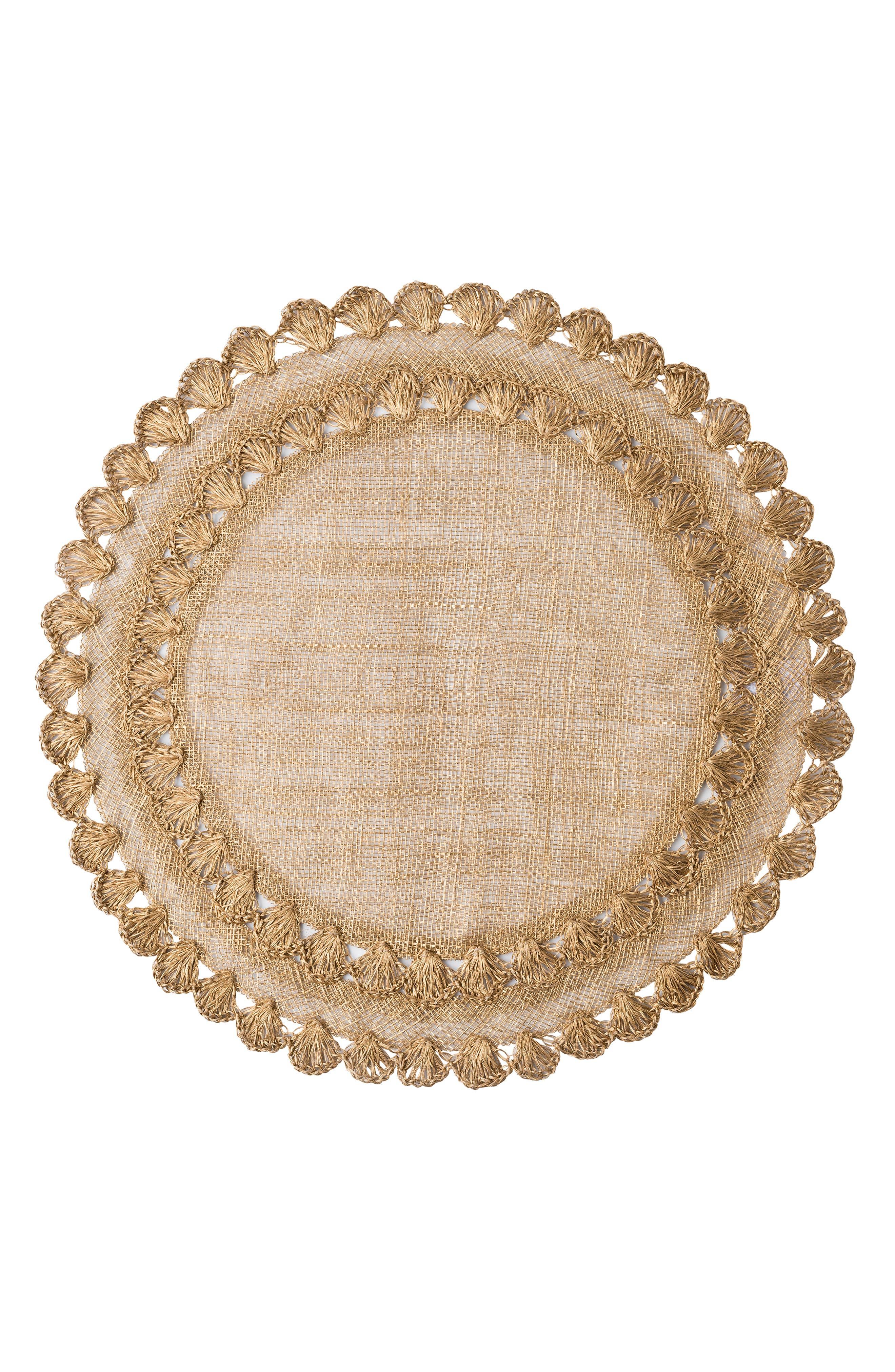 Juliska Isadora Placemat Size One Size  Metallic