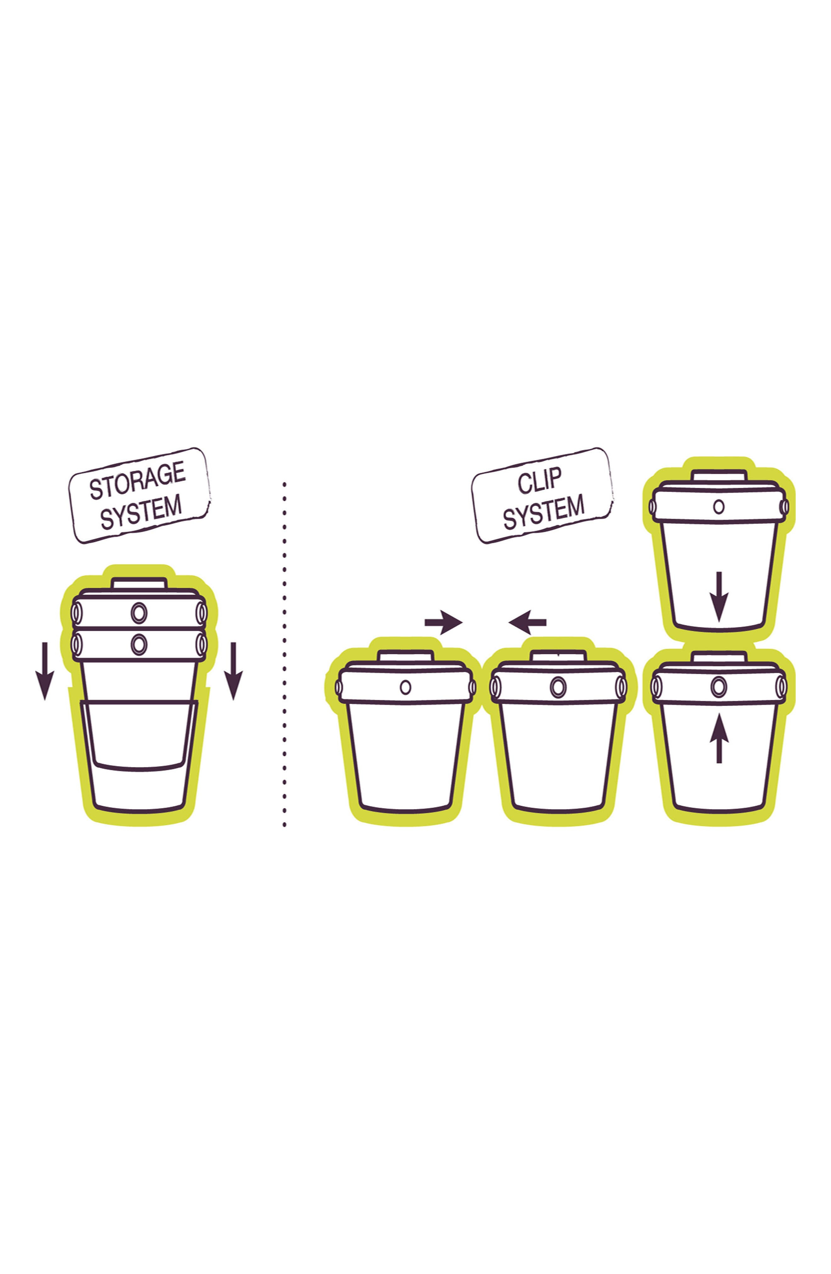 6-Pack Clip Portion Containers,                             Alternate thumbnail 3, color,                             PEACOCK