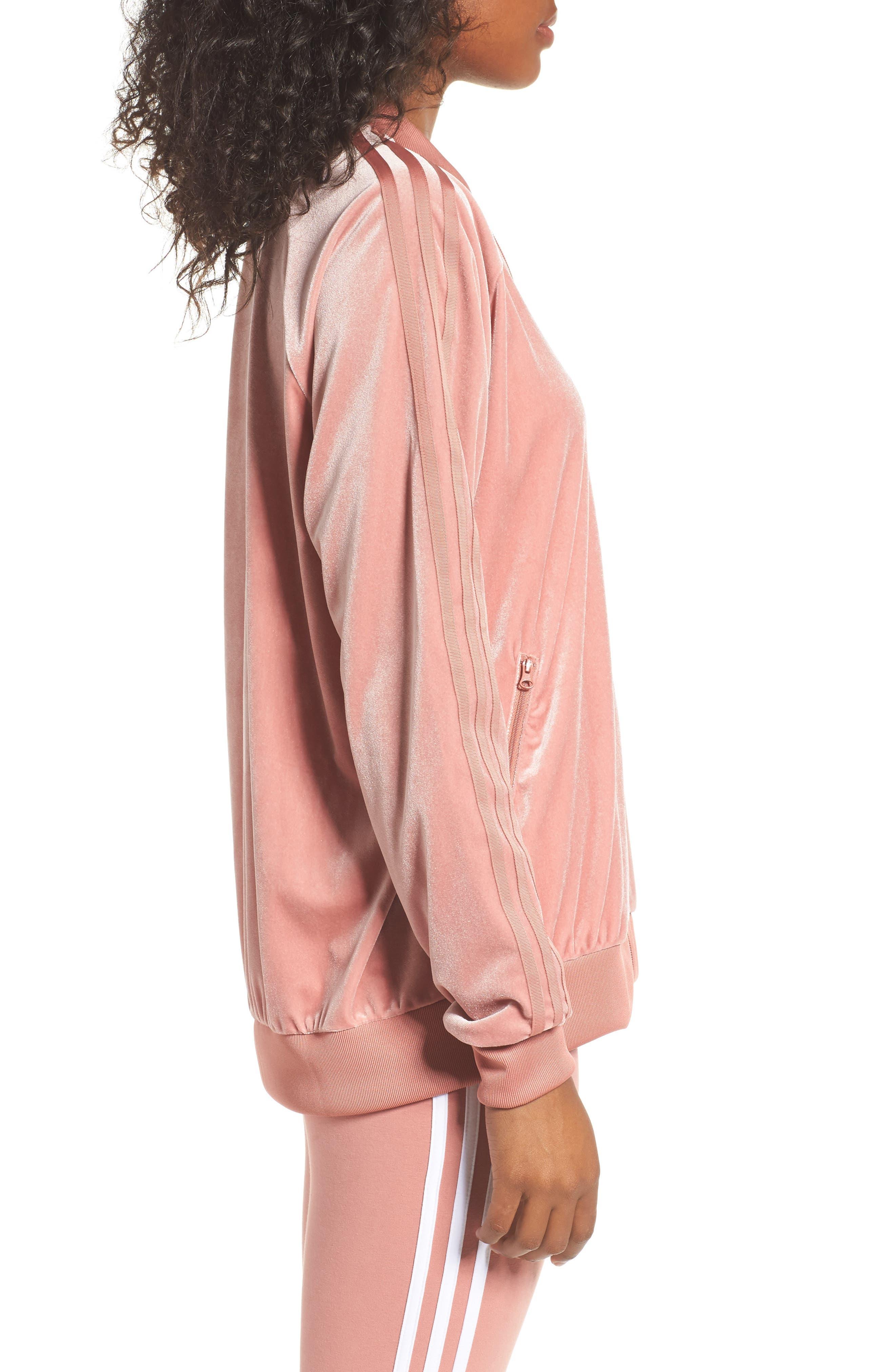 Velvet Zip Sweatshirt,                             Alternate thumbnail 3, color,                             651