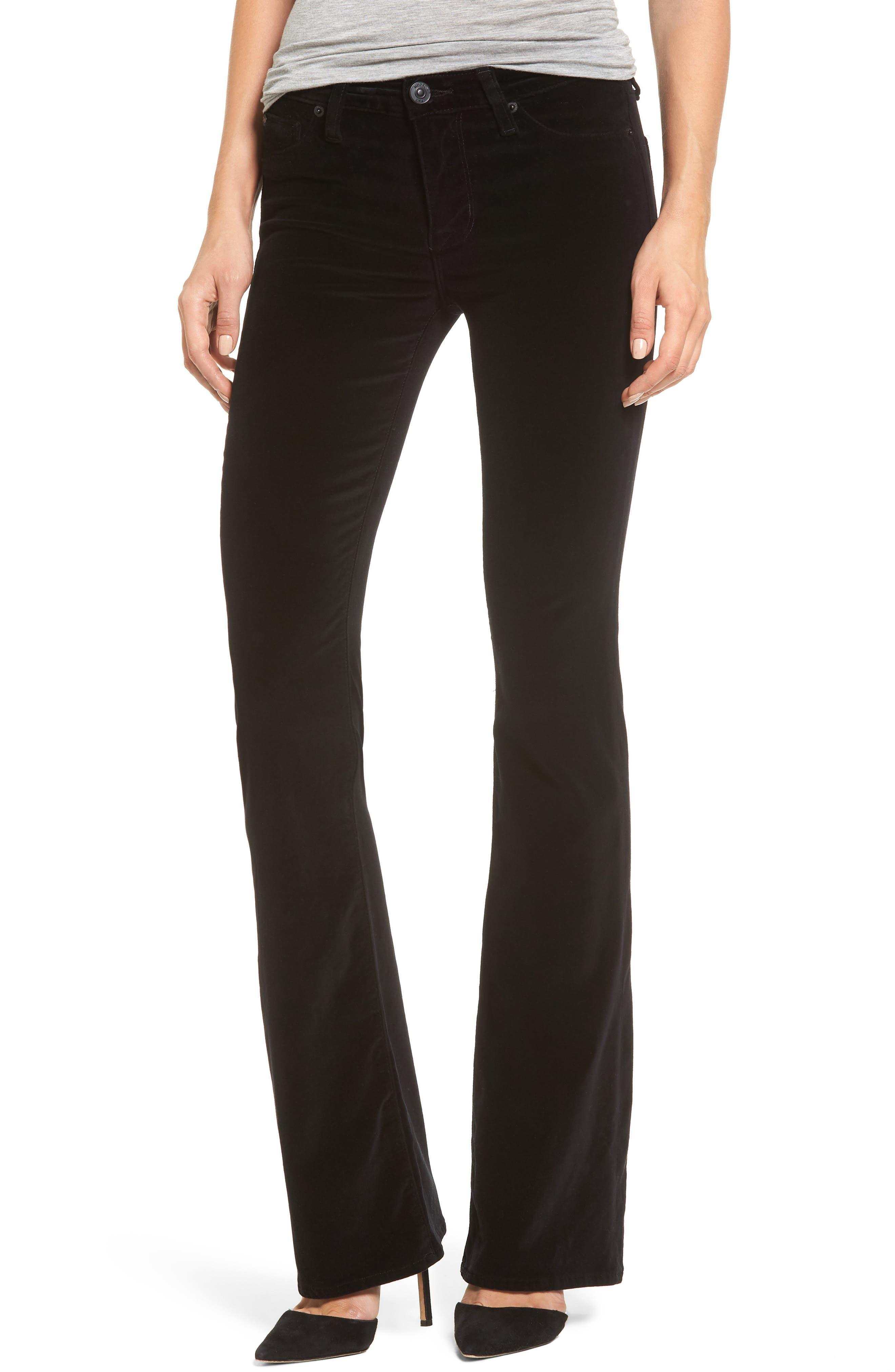 Drew Bootcut Velvet Jeans,                         Main,                         color, 001