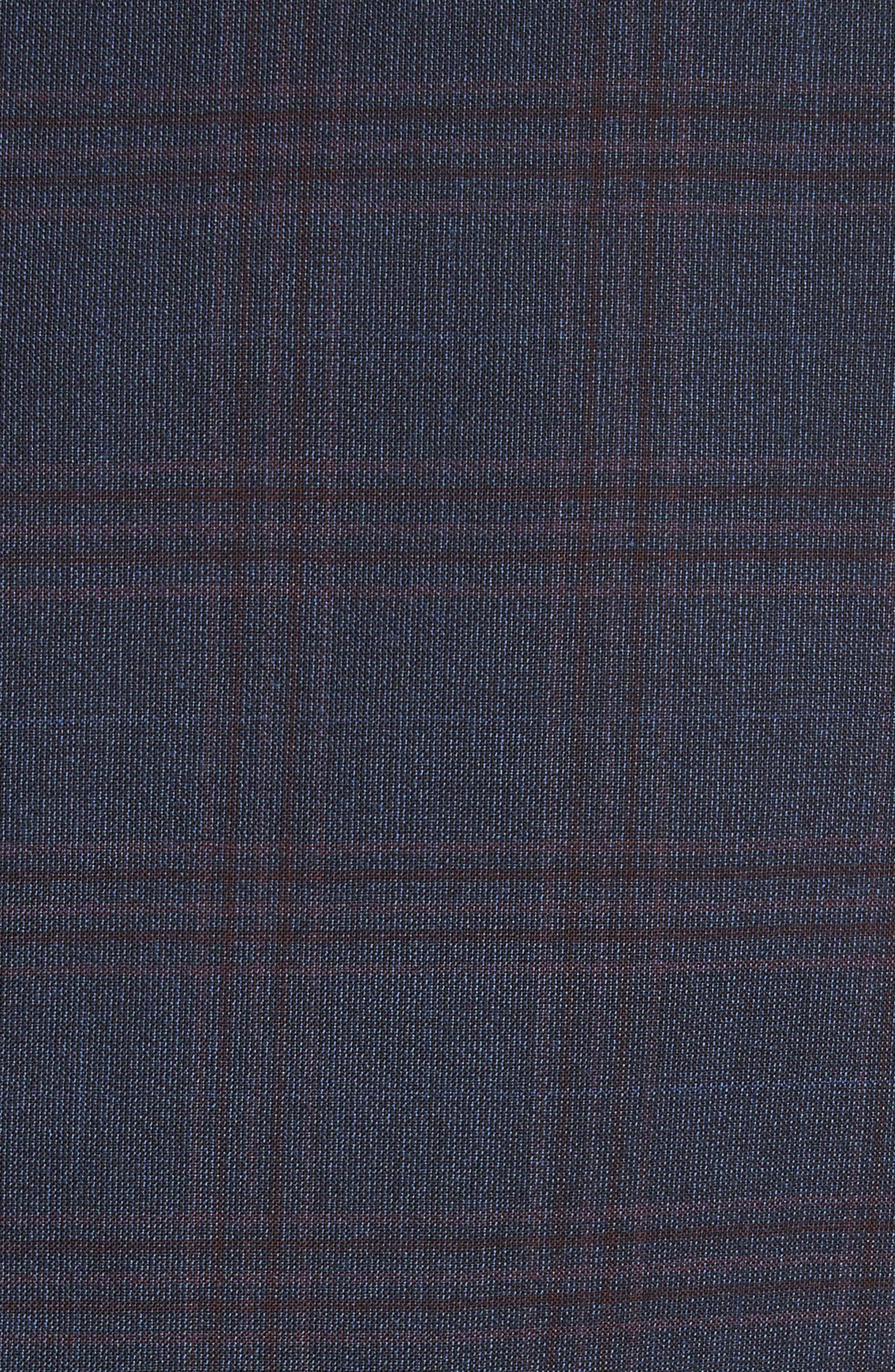 G-Line Trim Fit Plaid Wool Sport Coat,                             Alternate thumbnail 5, color,