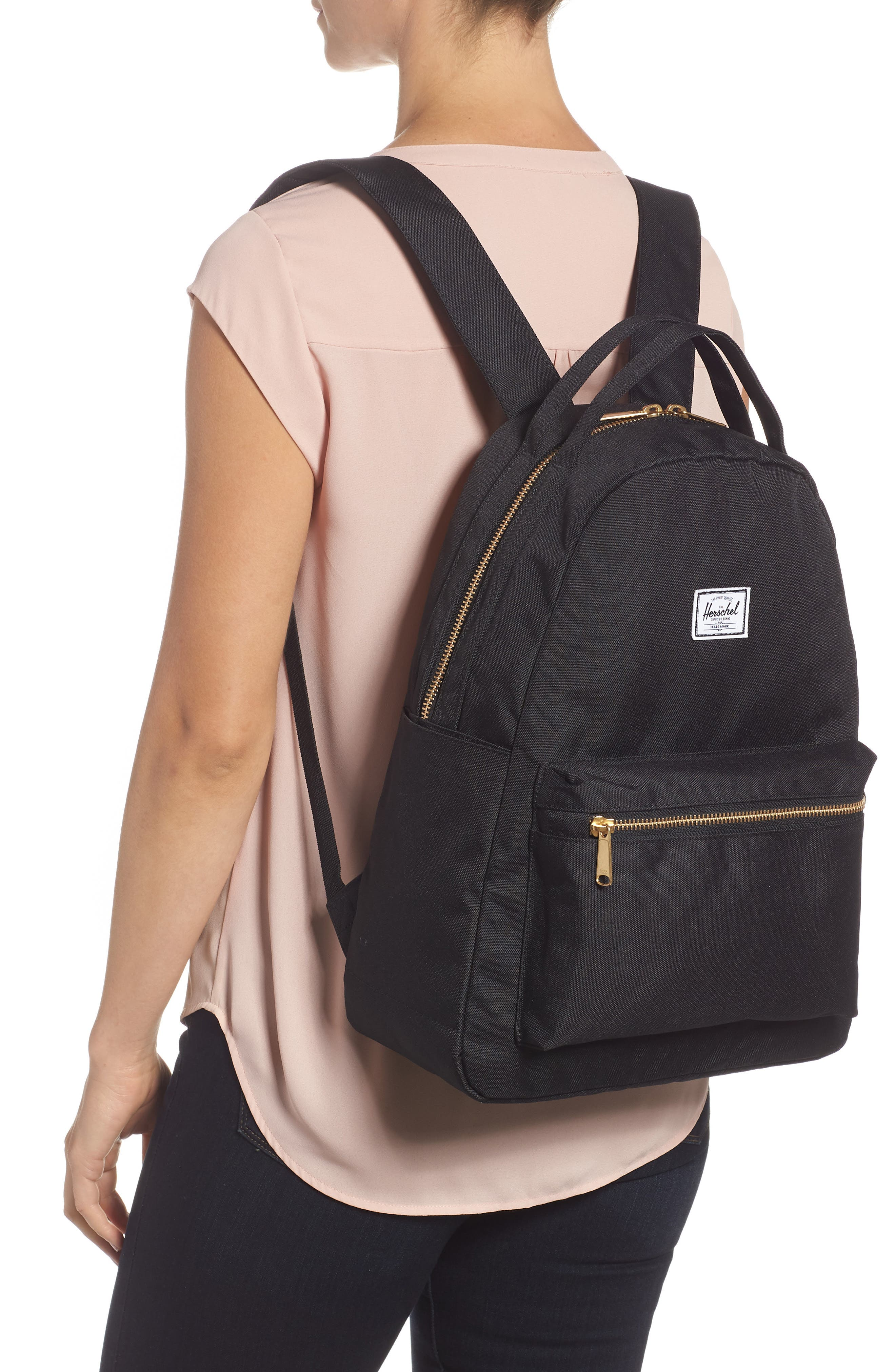 HERSCHEL SUPPLY CO.,                             Nova Mid Volume Backpack,                             Alternate thumbnail 2, color,                             BLACK