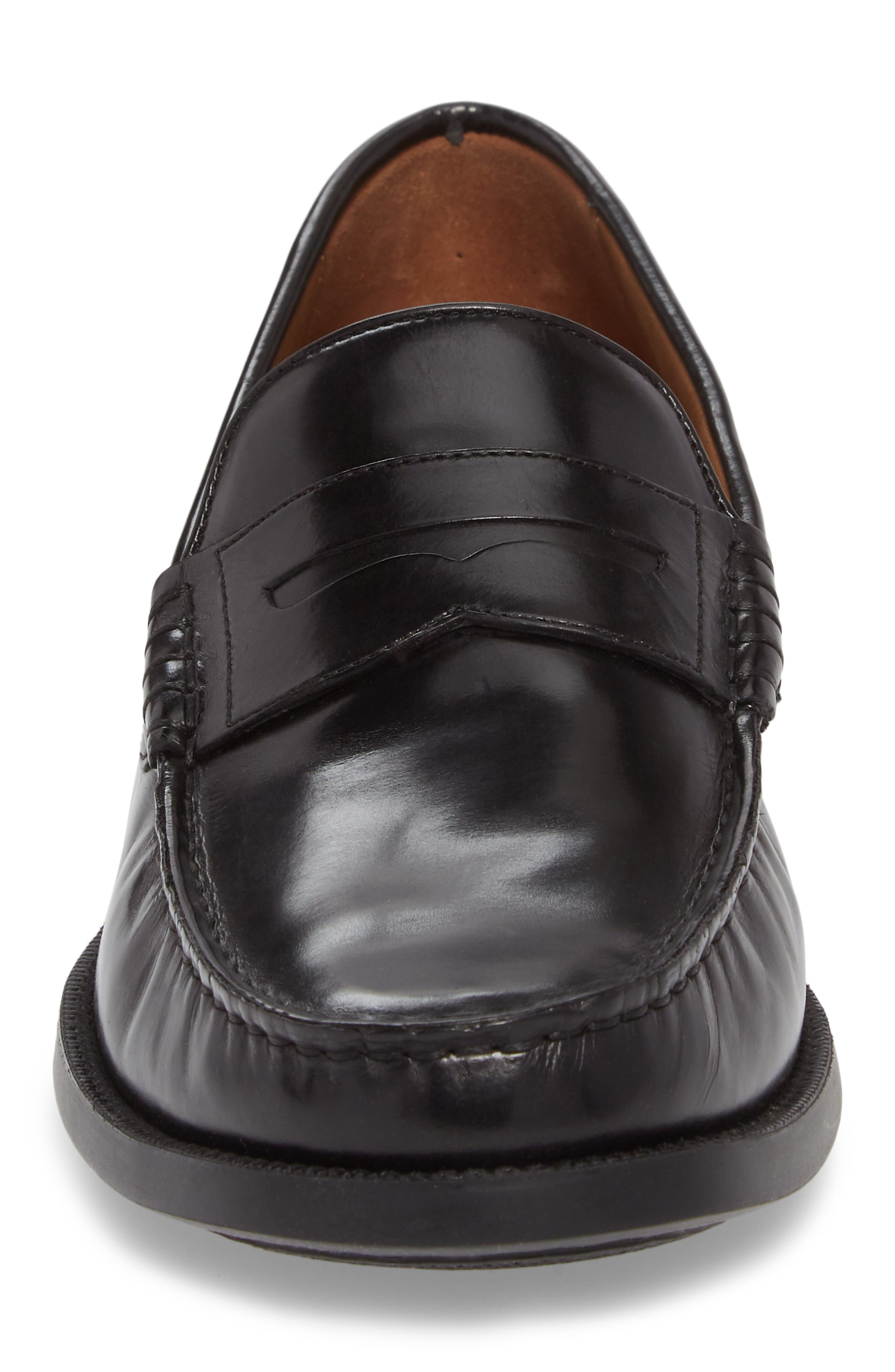 Chadwell Penny Loafer,                             Alternate thumbnail 4, color,                             BLACK LEATHER