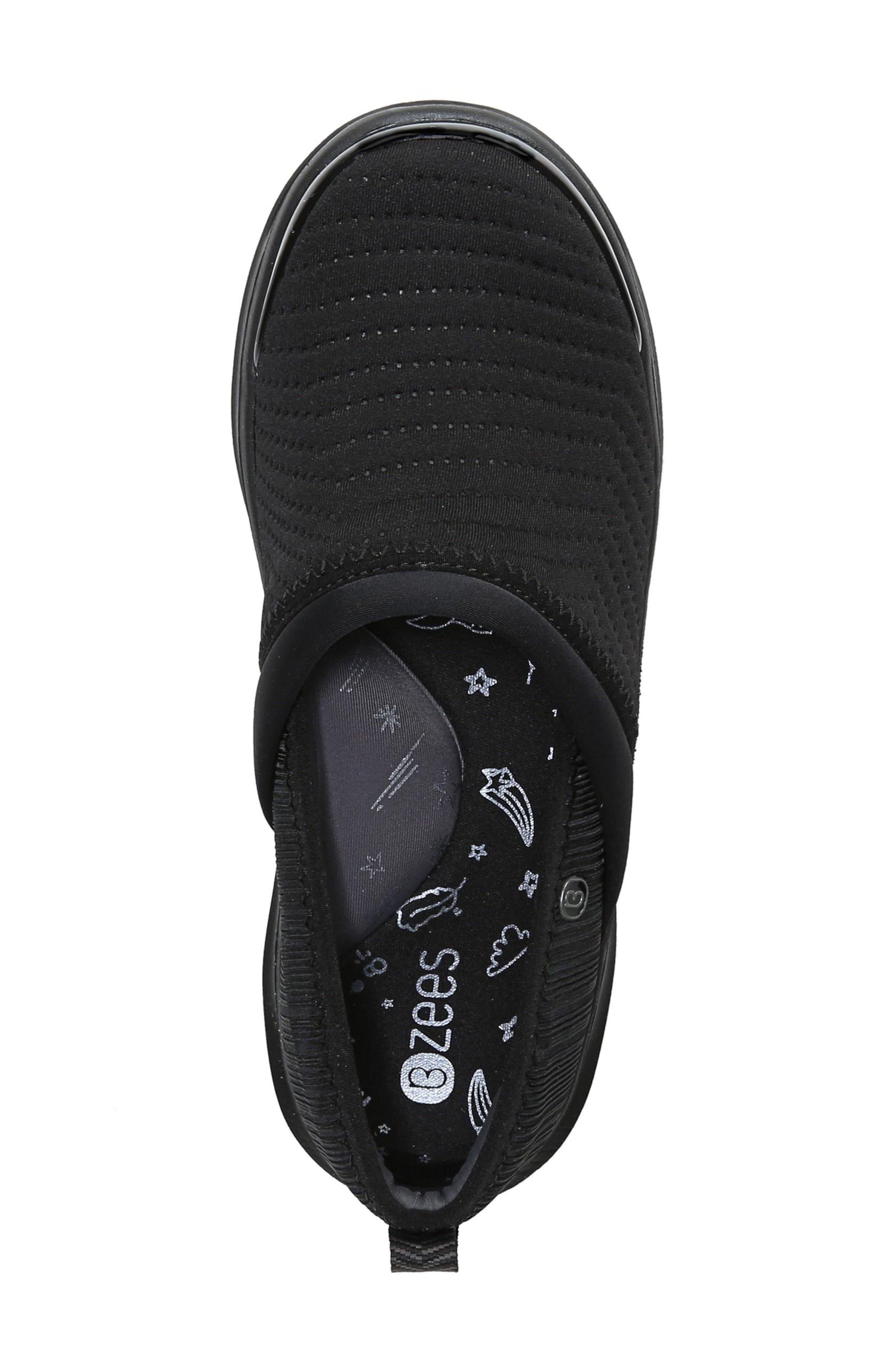 Coco Slip-On Sneaker,                             Alternate thumbnail 5, color,                             BLACK FABRIC