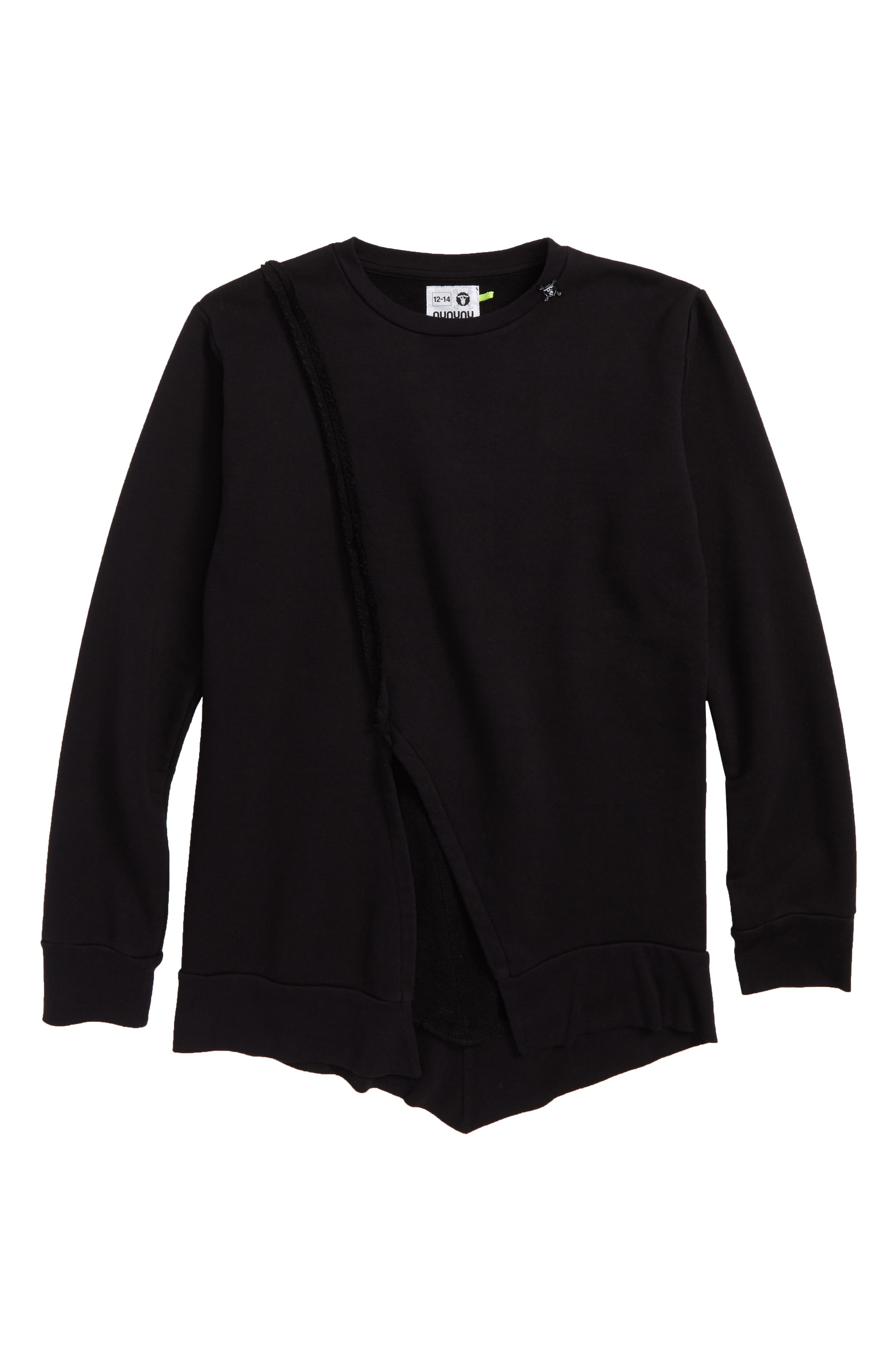 Penguin Sweatshirt,                             Main thumbnail 1, color,                             BLACK