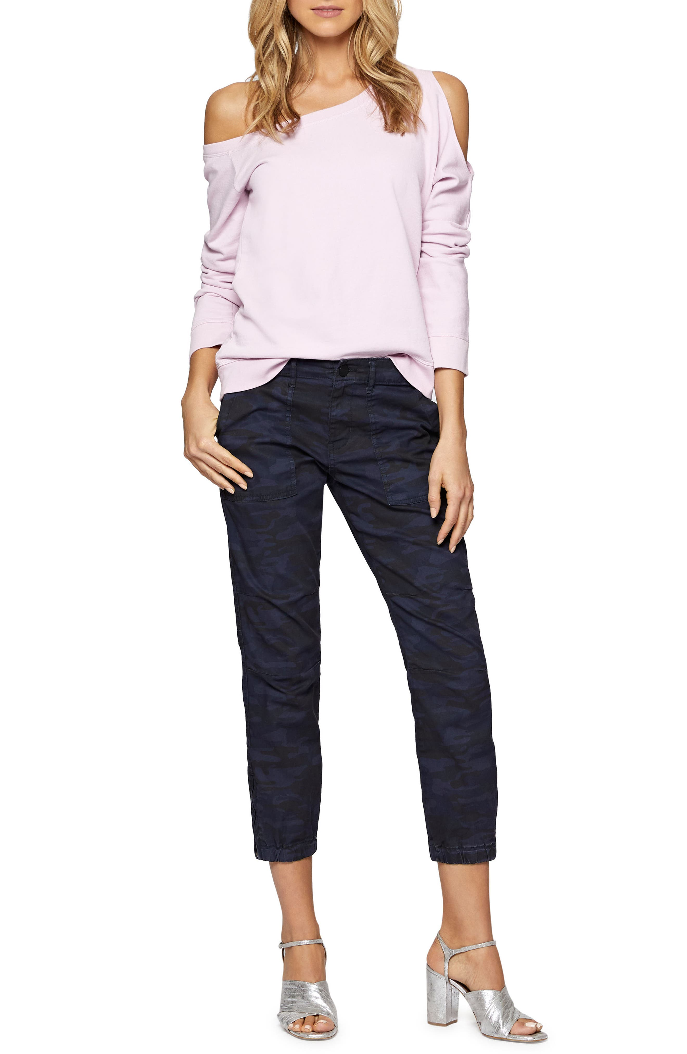 Alexi Asymmetrical Sweatshirt,                             Alternate thumbnail 9, color,