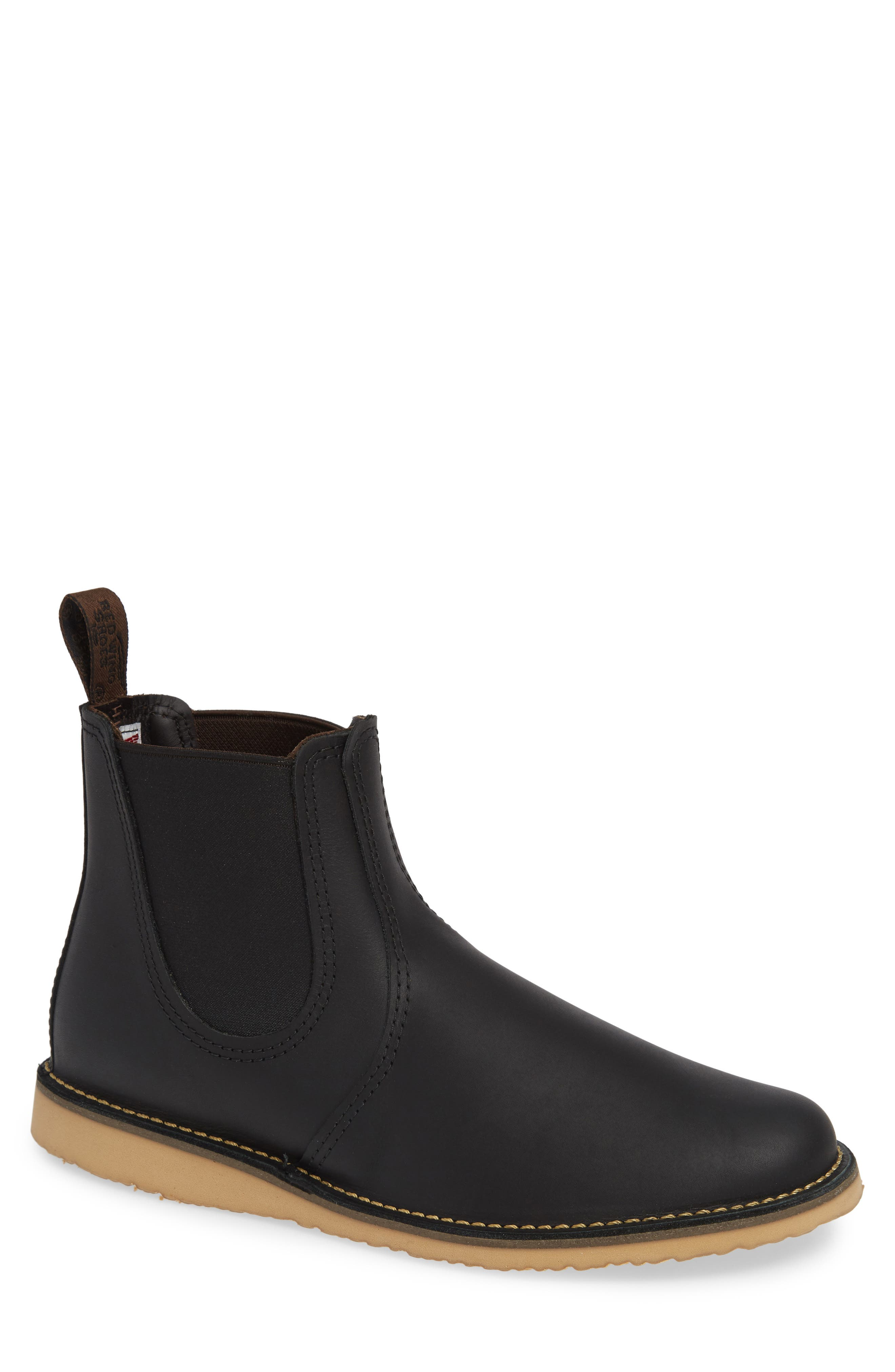 RED WING,                             Chelsea Boot,                             Main thumbnail 1, color,                             BLACK HARNESS LEATHER