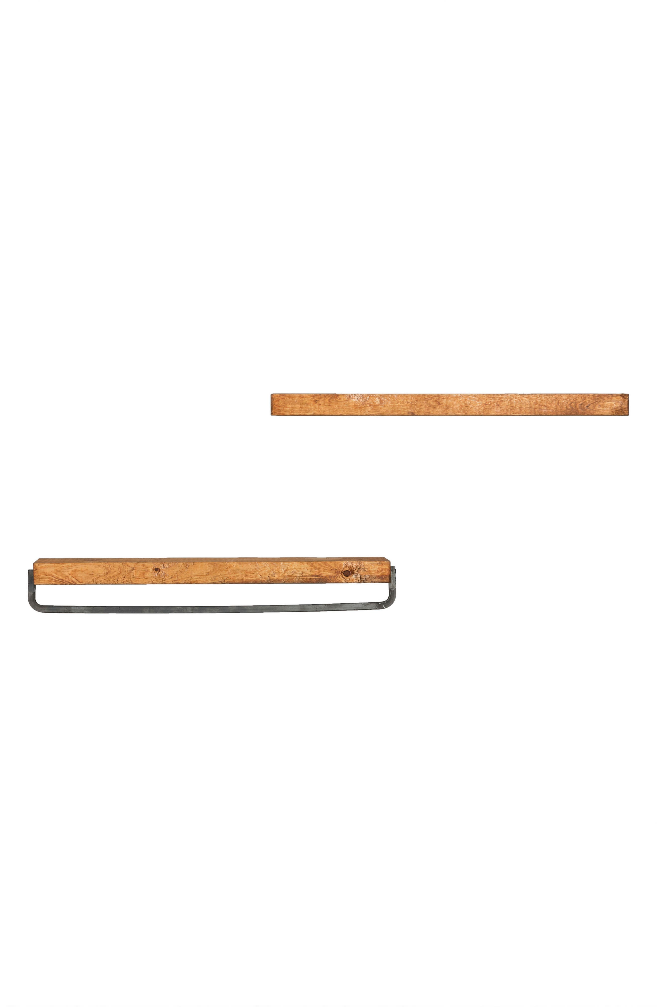 Set of 2 Floating Shelves with Towel Rack,                             Alternate thumbnail 4, color,