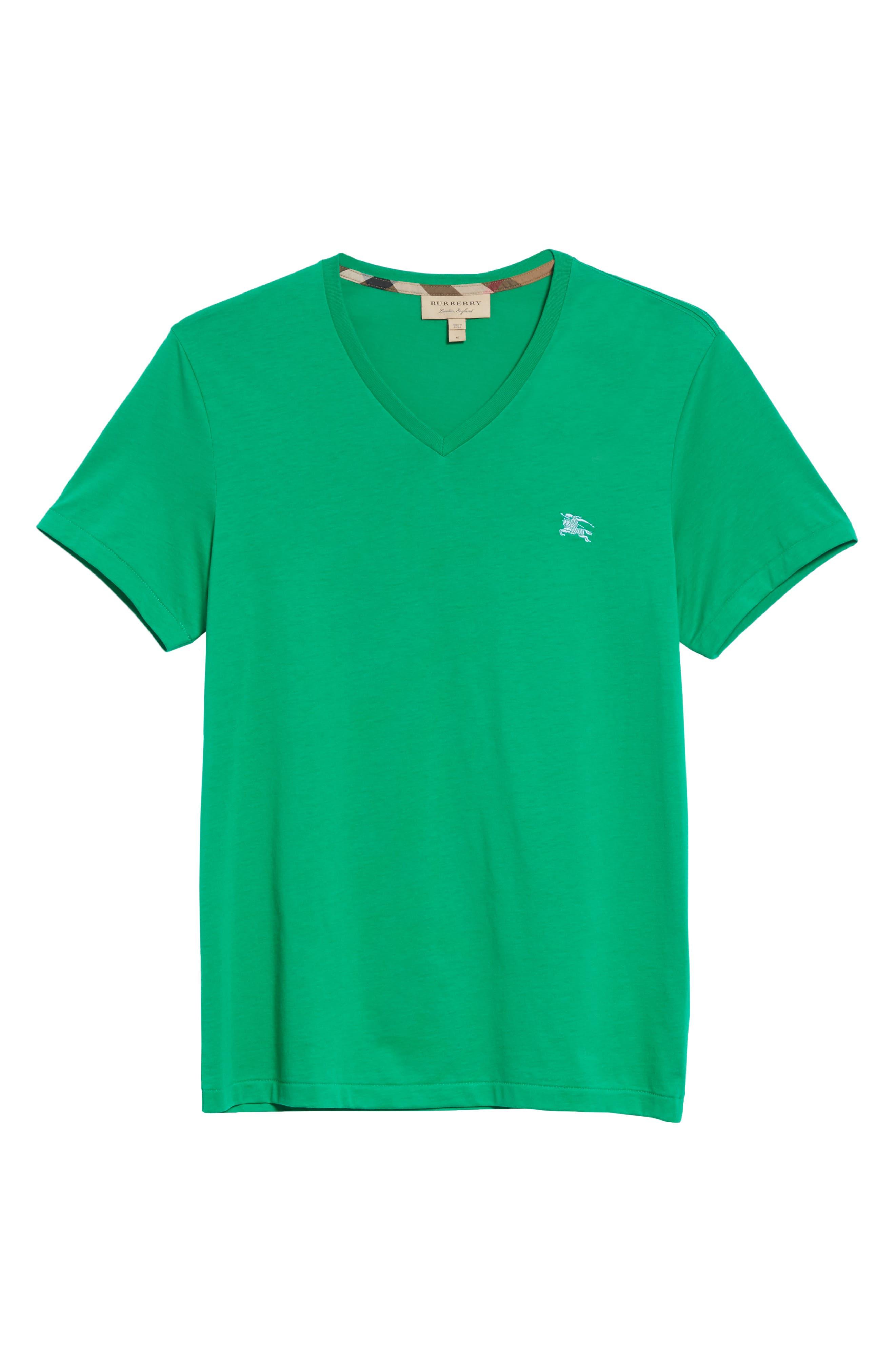 Jadford V-Neck T-Shirt,                             Alternate thumbnail 6, color,                             BRIGHT GREEN