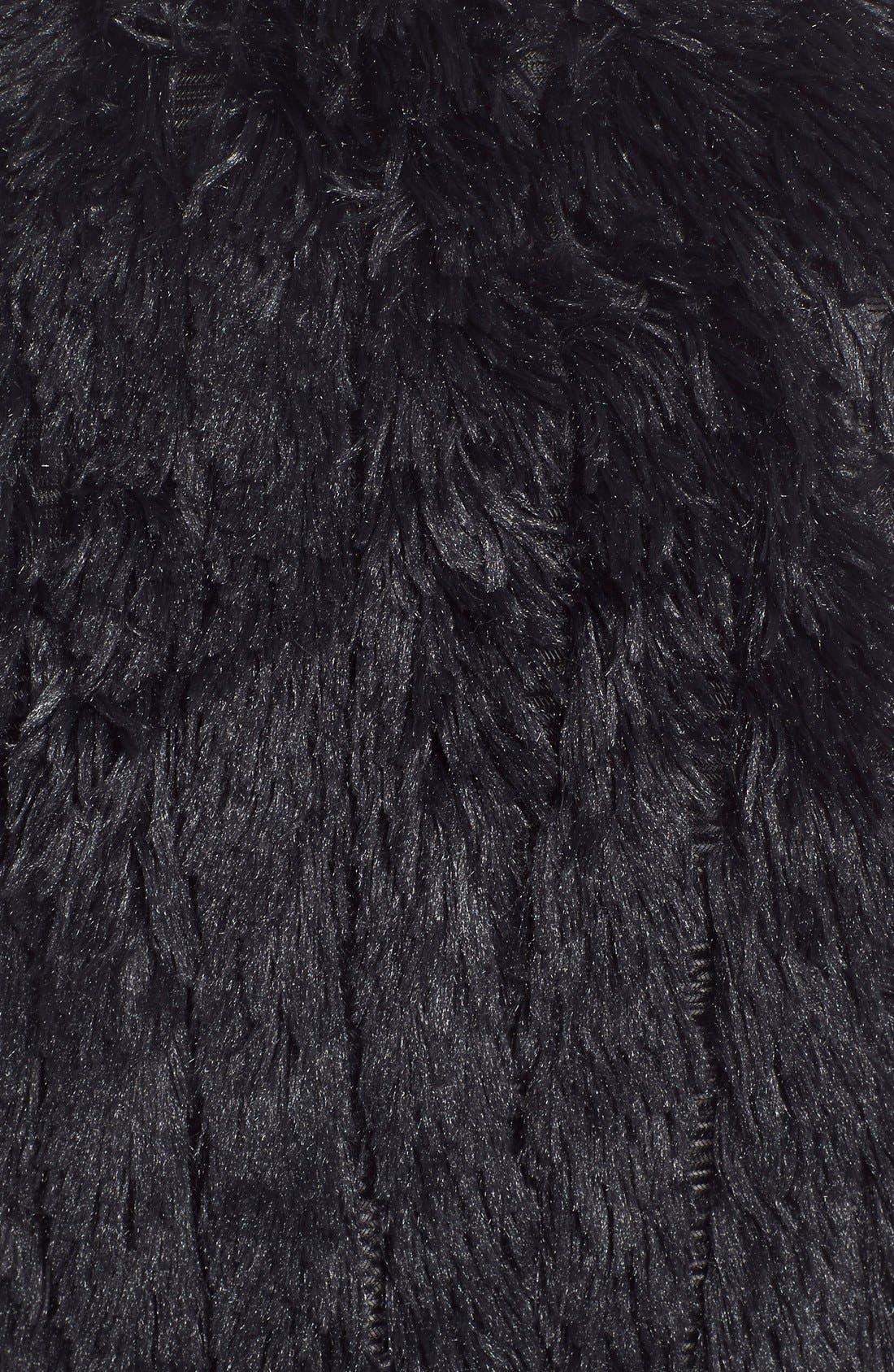 Faux Fur Vest,                             Alternate thumbnail 3, color,                             001