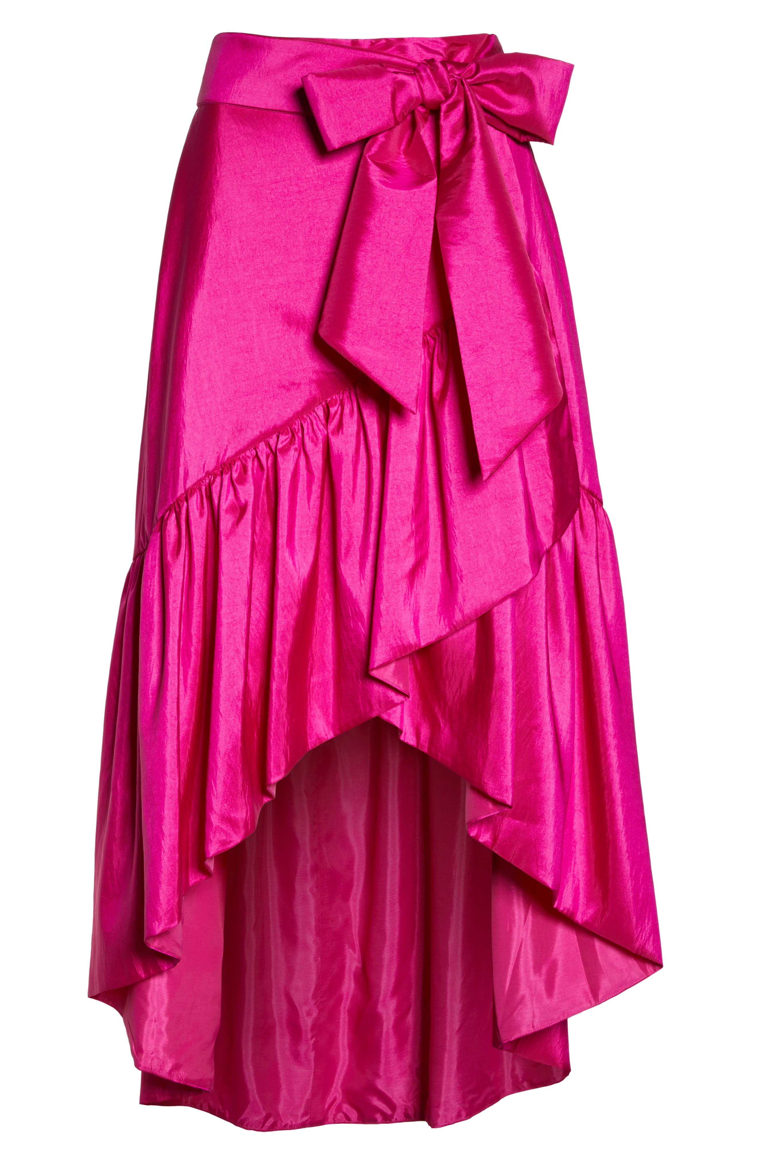 Ruffled Faux Wrap Skirt,                             Alternate thumbnail 6, color,                             678