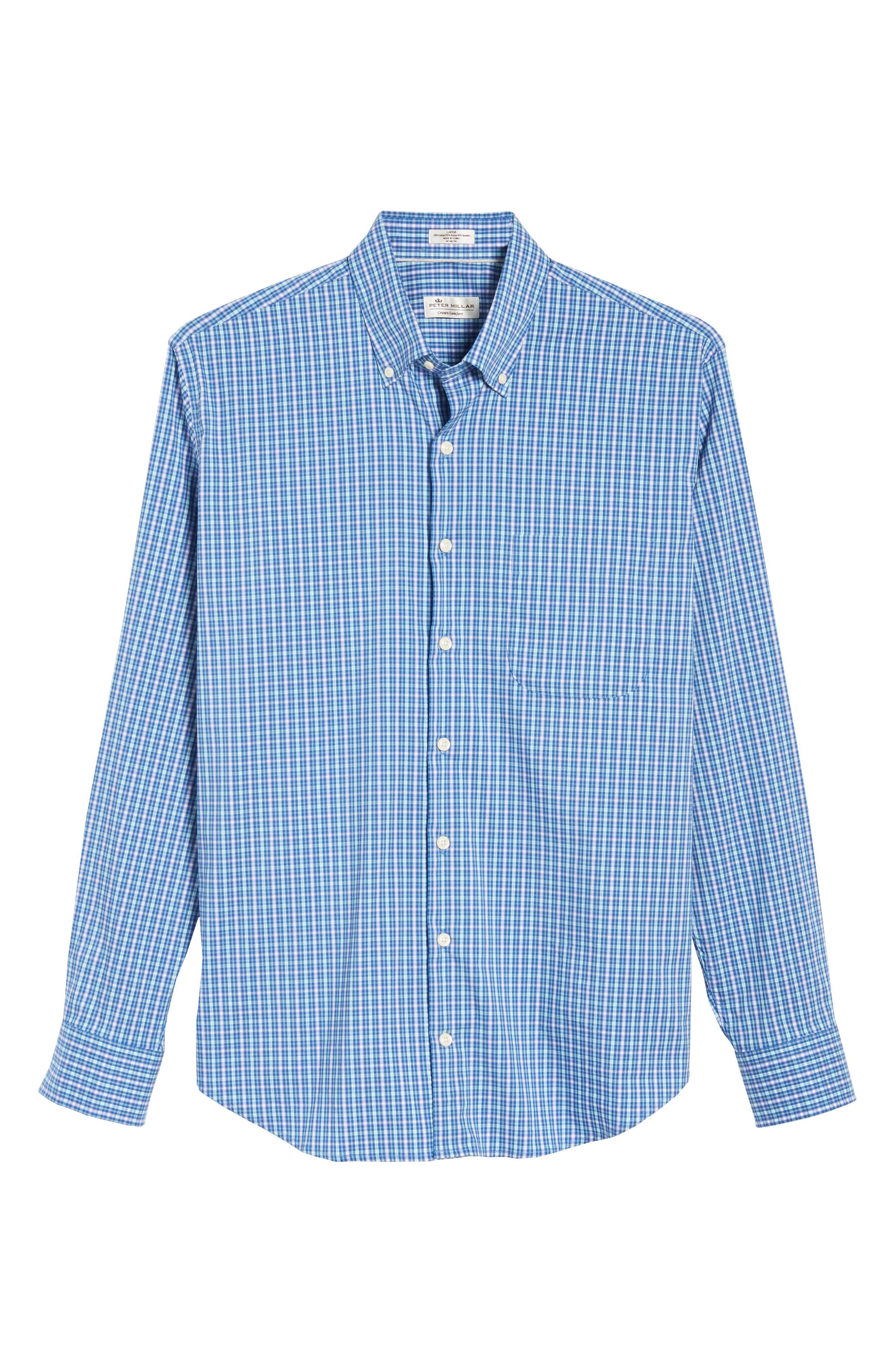 Crown Comfort Finch Multicheck Sport Shirt,                             Alternate thumbnail 6, color,                             422