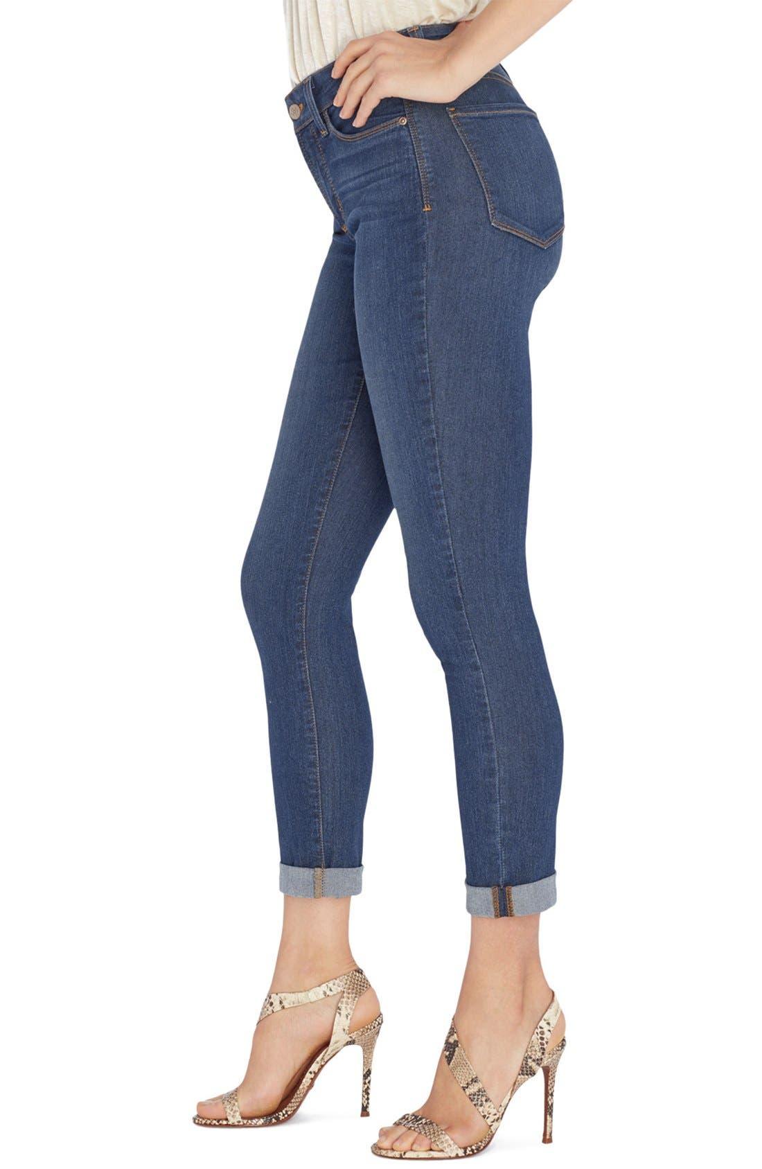 'Annabelle' Stretch Boyfriend Jeans,                             Alternate thumbnail 3, color,                             401