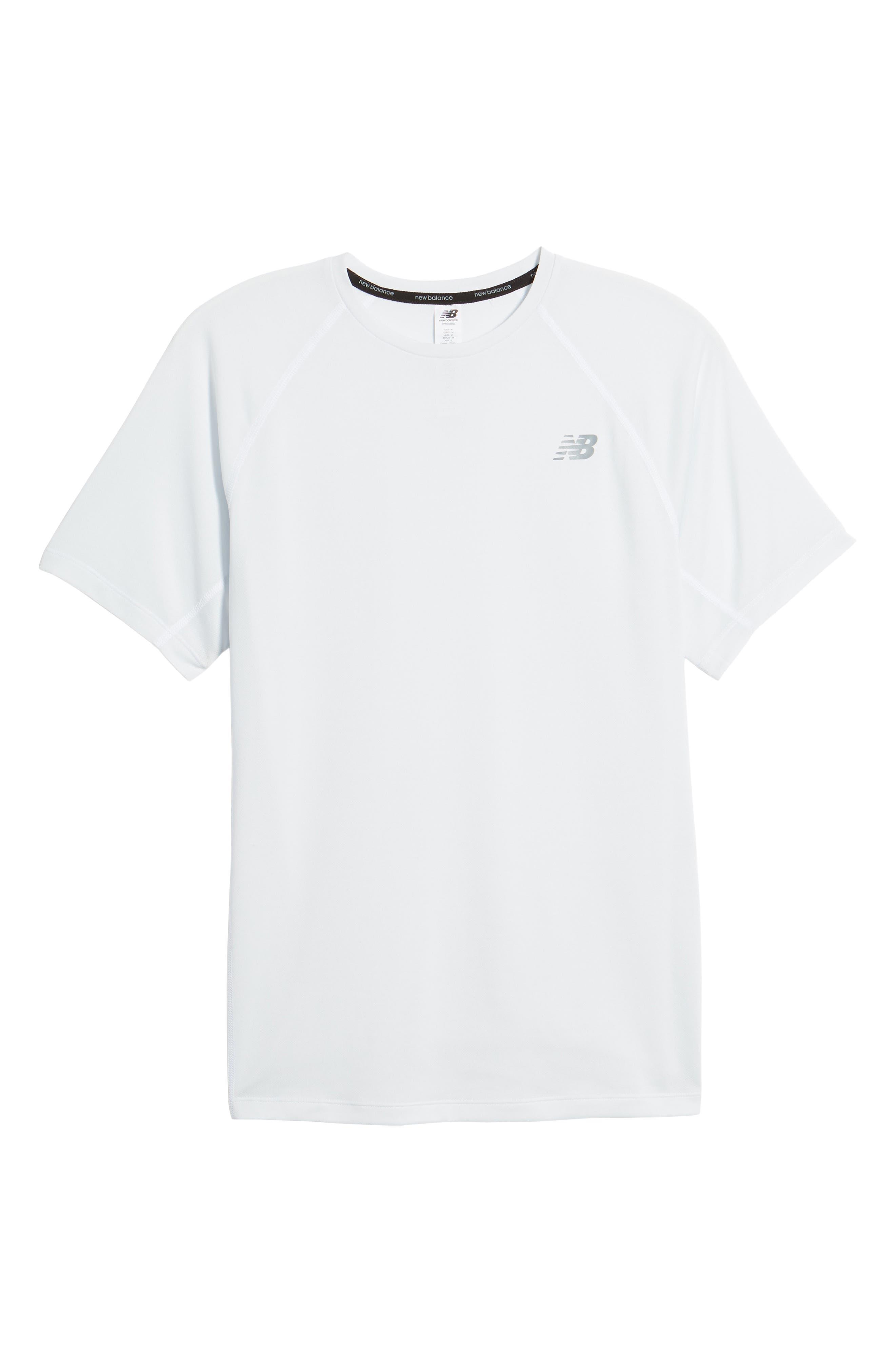 Tenacity Crewneck T-Shirt,                             Alternate thumbnail 6, color,                             WHITE
