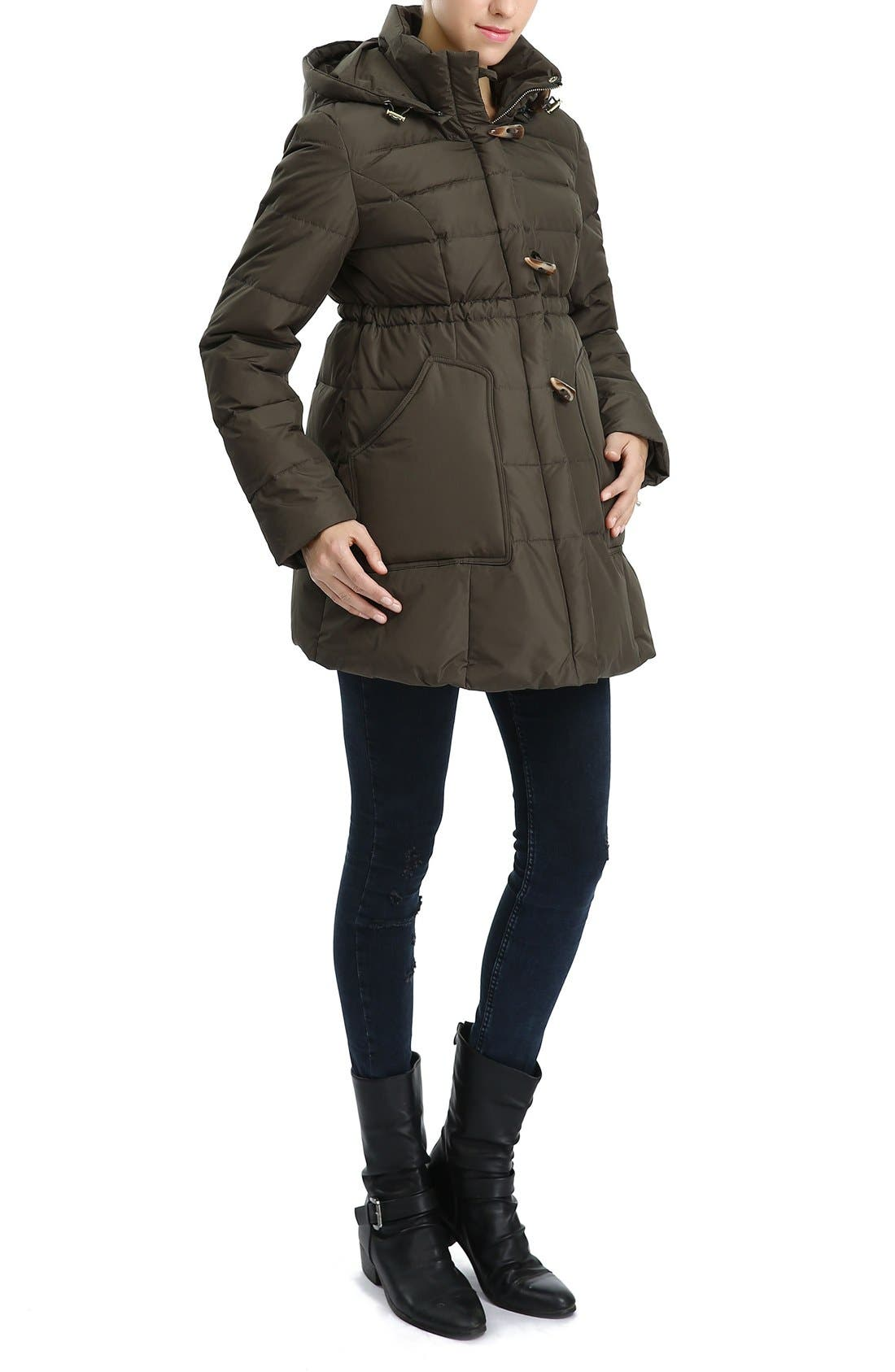 'Marlo' Water Resistant Down Maternity Parka,                             Alternate thumbnail 8, color,
