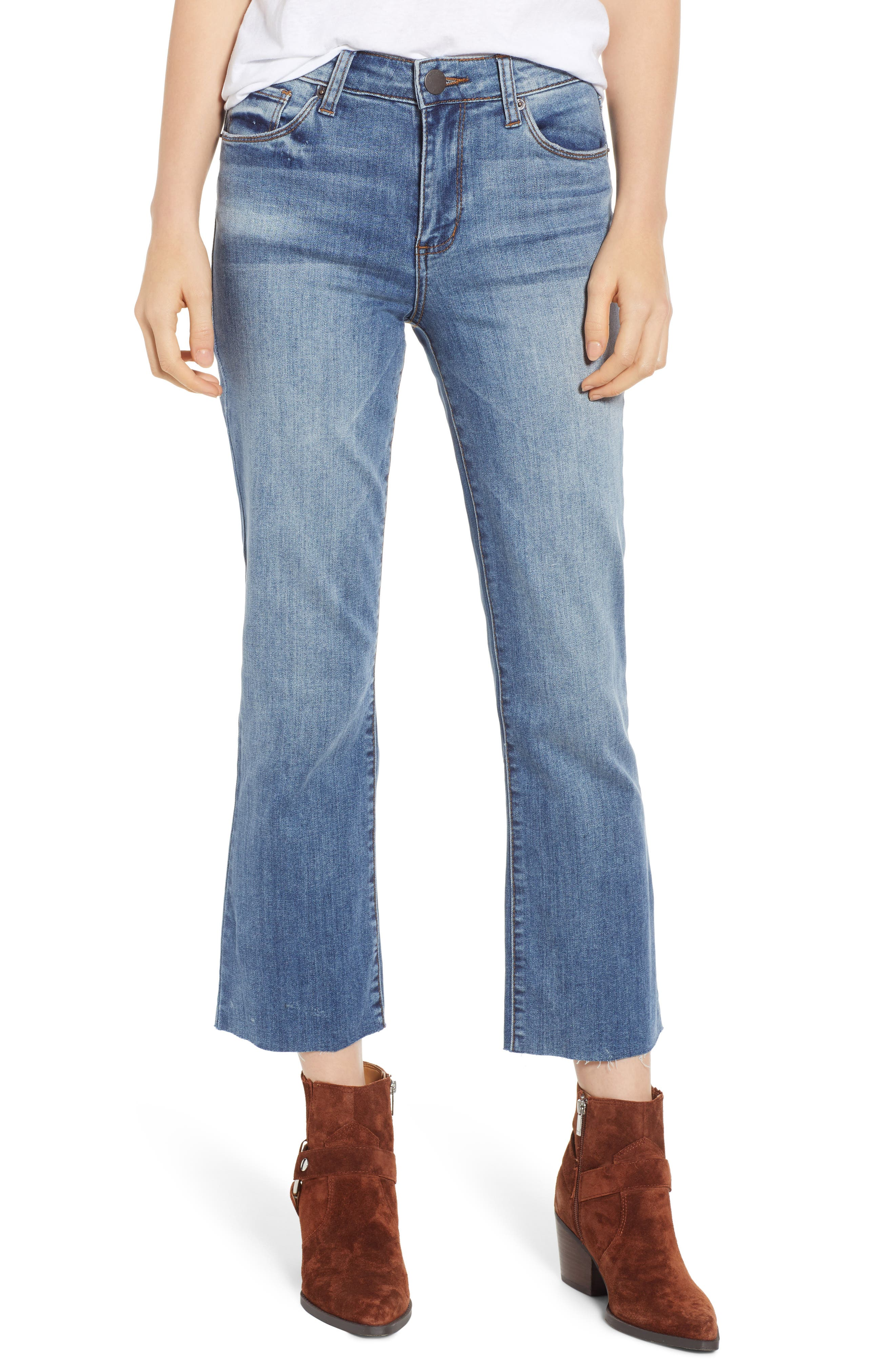 STS Blue Brooke Crop Flare Jeans, Main, color, TOPAZ