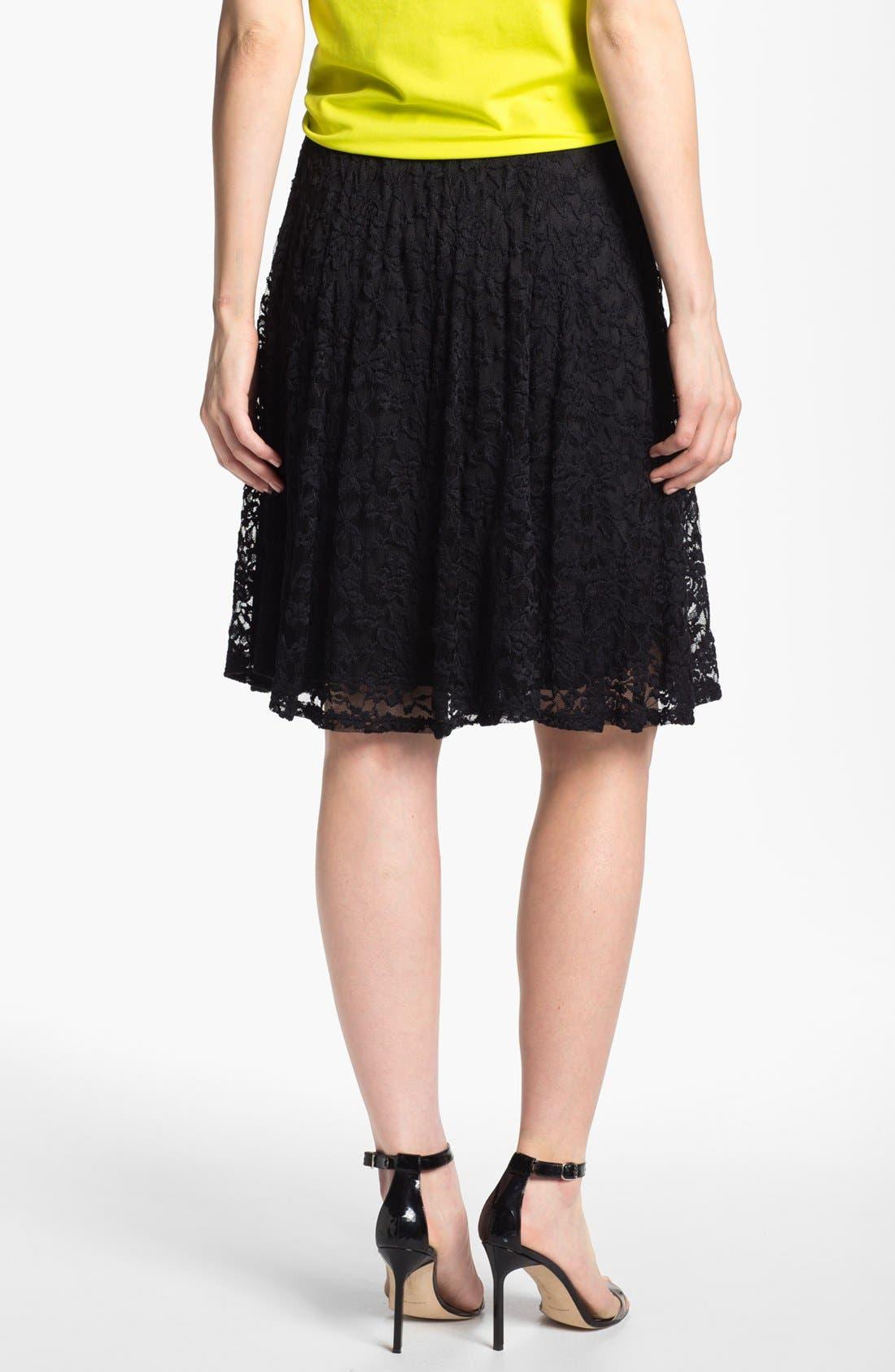 High Waist Lace Skirt,                             Alternate thumbnail 2, color,                             001