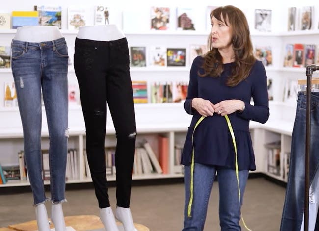 Play video to learn how to find jeans that fit.