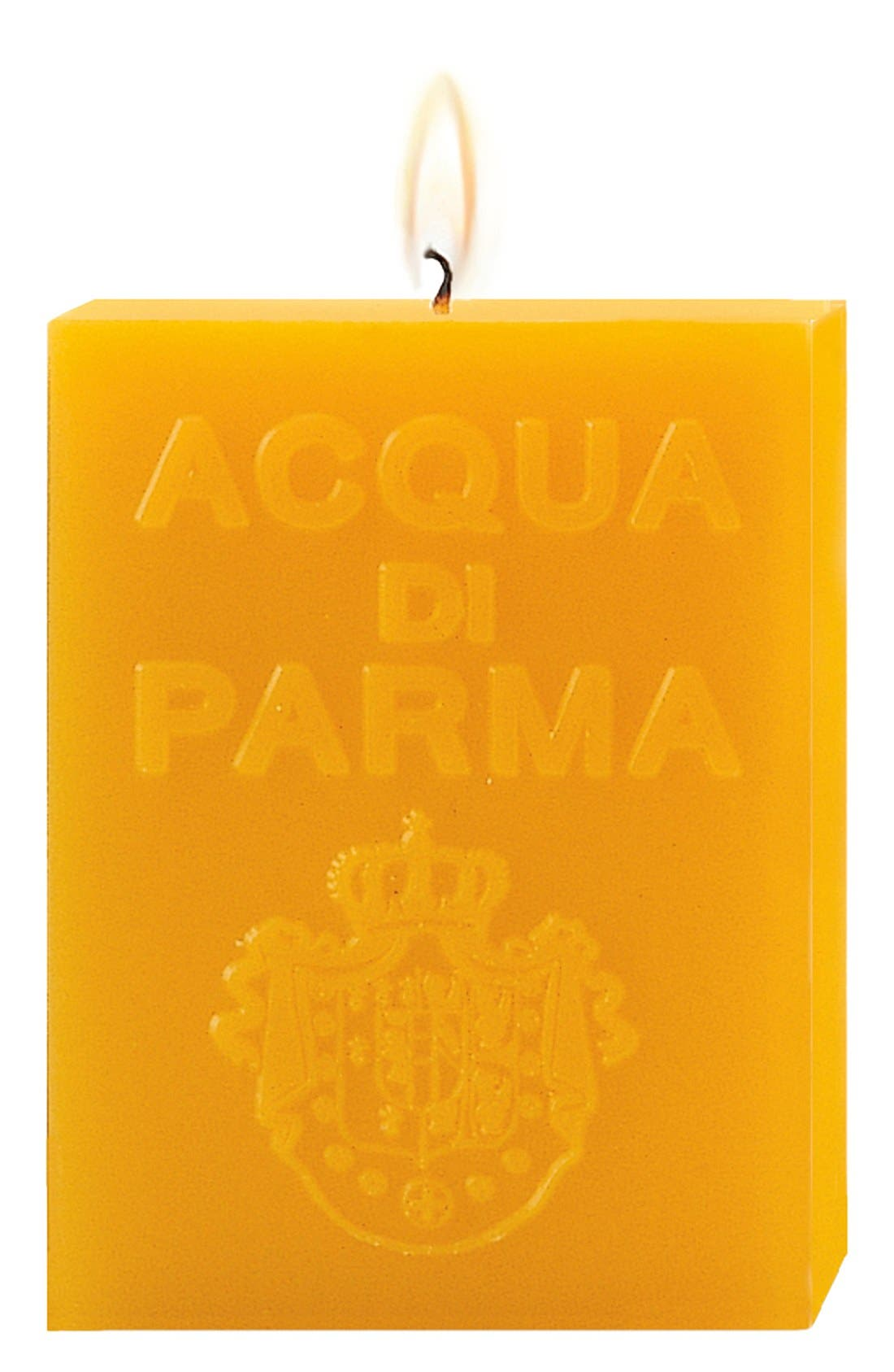 'Yellow Colonia' Cube Candle,                             Main thumbnail 1, color,                             NO COLOR
