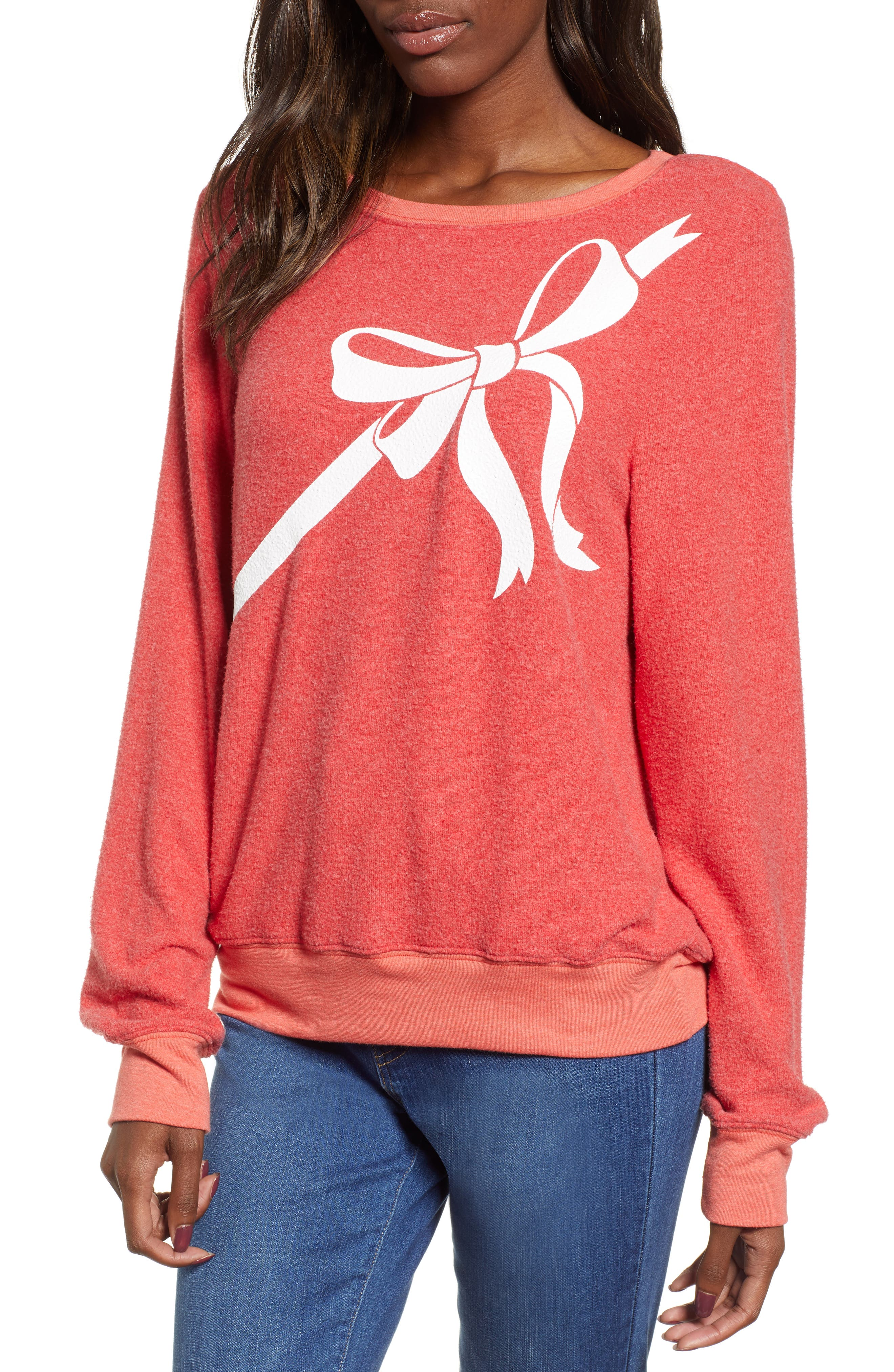 Gift Wrapped Sweatshirt,                         Main,                         color, SCARLET