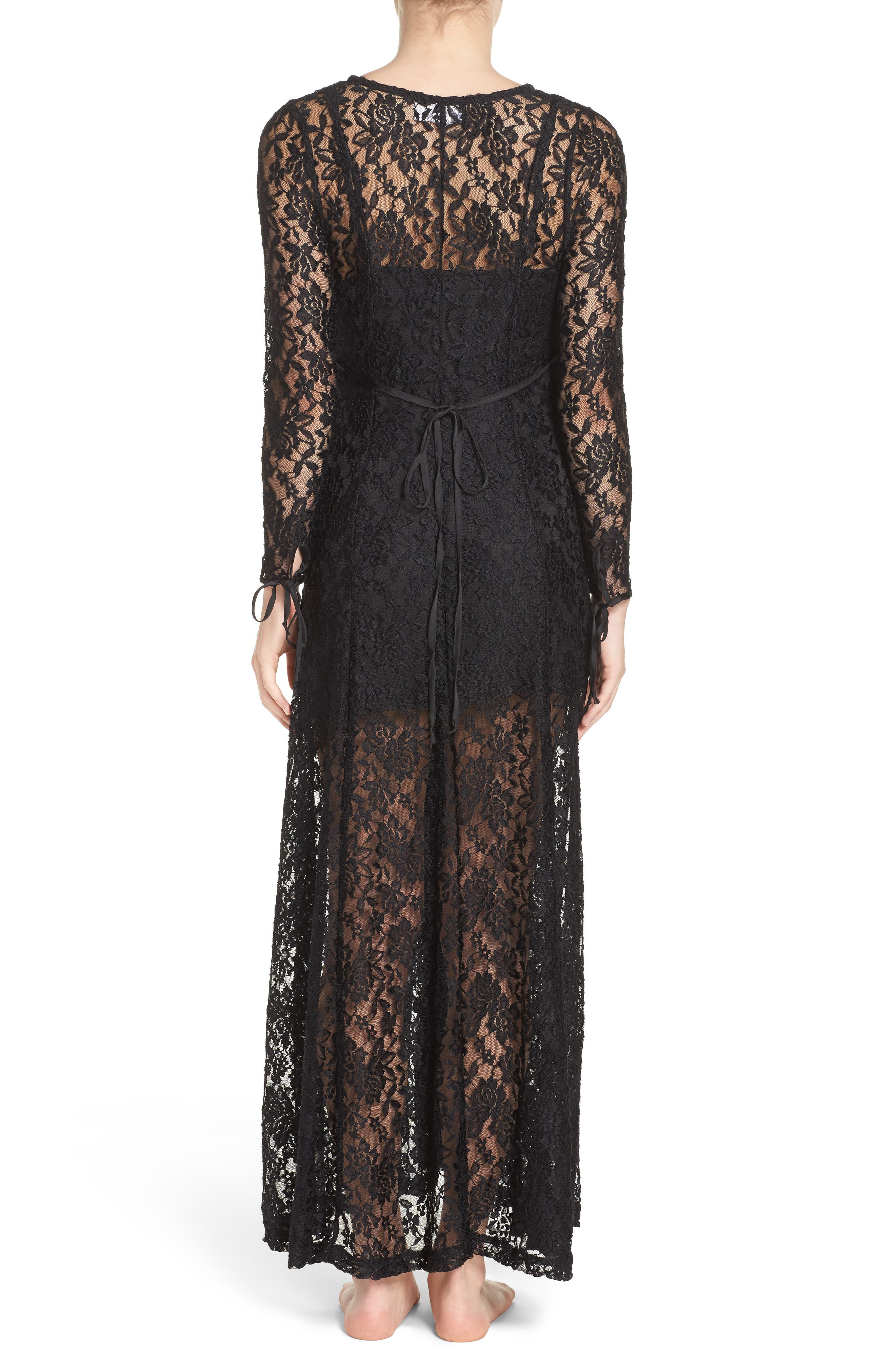 Lace Duster Robe,                             Alternate thumbnail 2, color,                             003