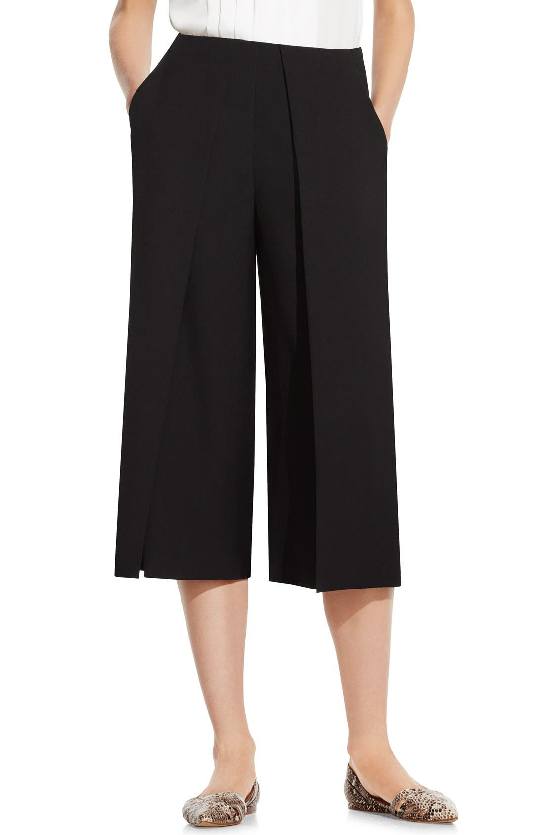 Pleat Waist Culottes,                         Main,                         color, 001