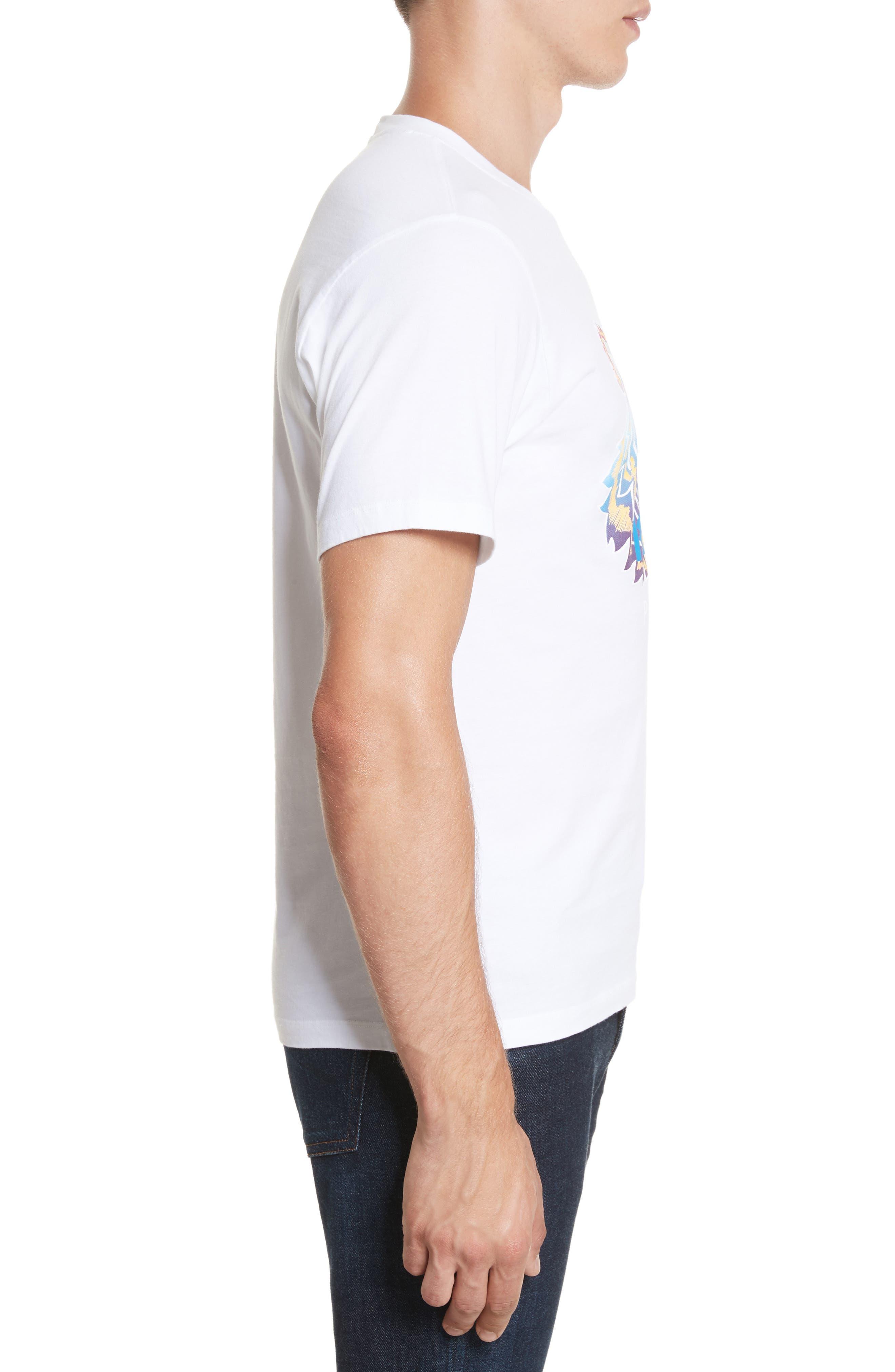 Rainbow Tiger Graphic T-Shirt,                             Alternate thumbnail 3, color,