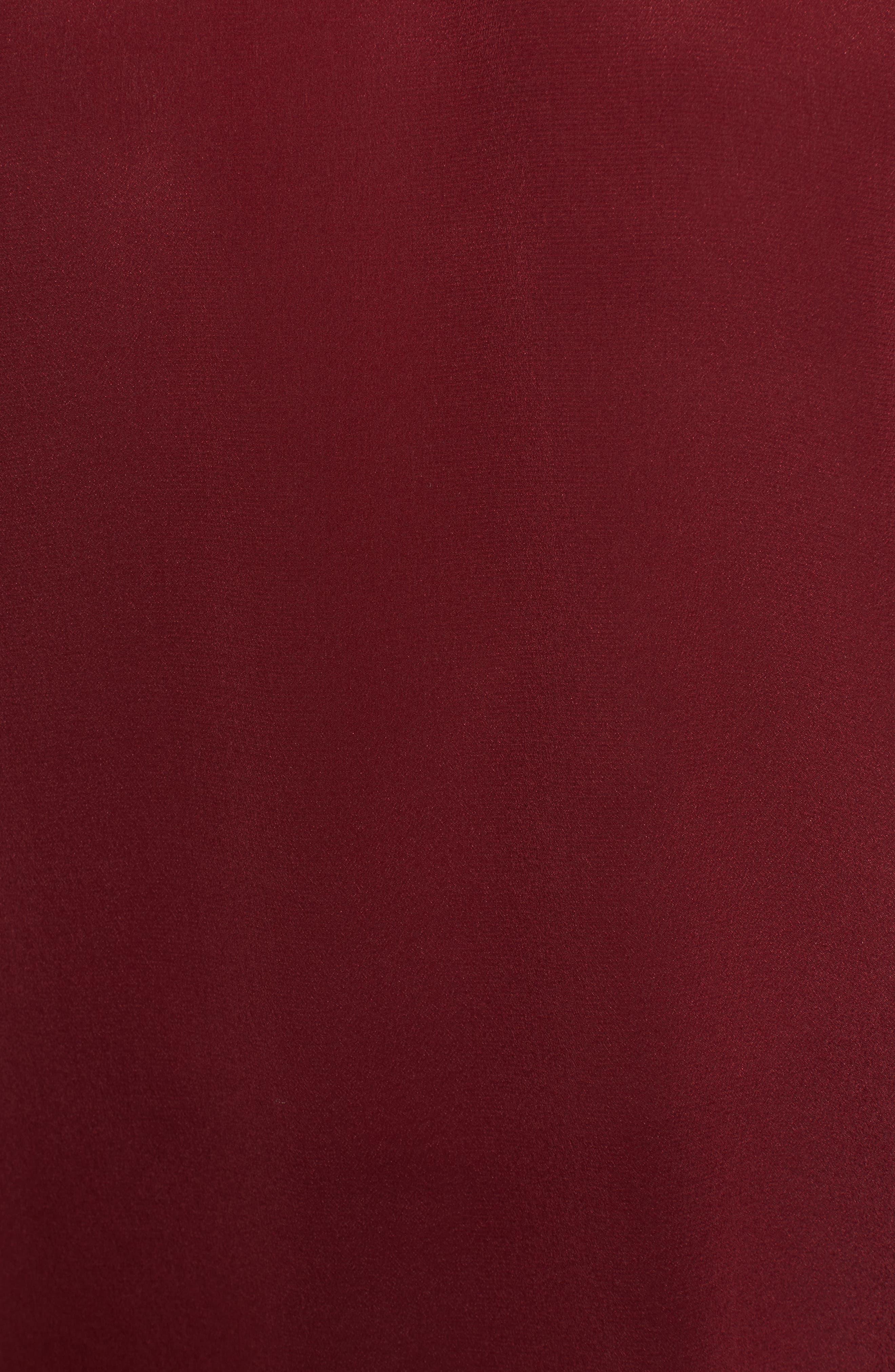 Ruffle Sleeve Silk Top,                             Alternate thumbnail 5, color,