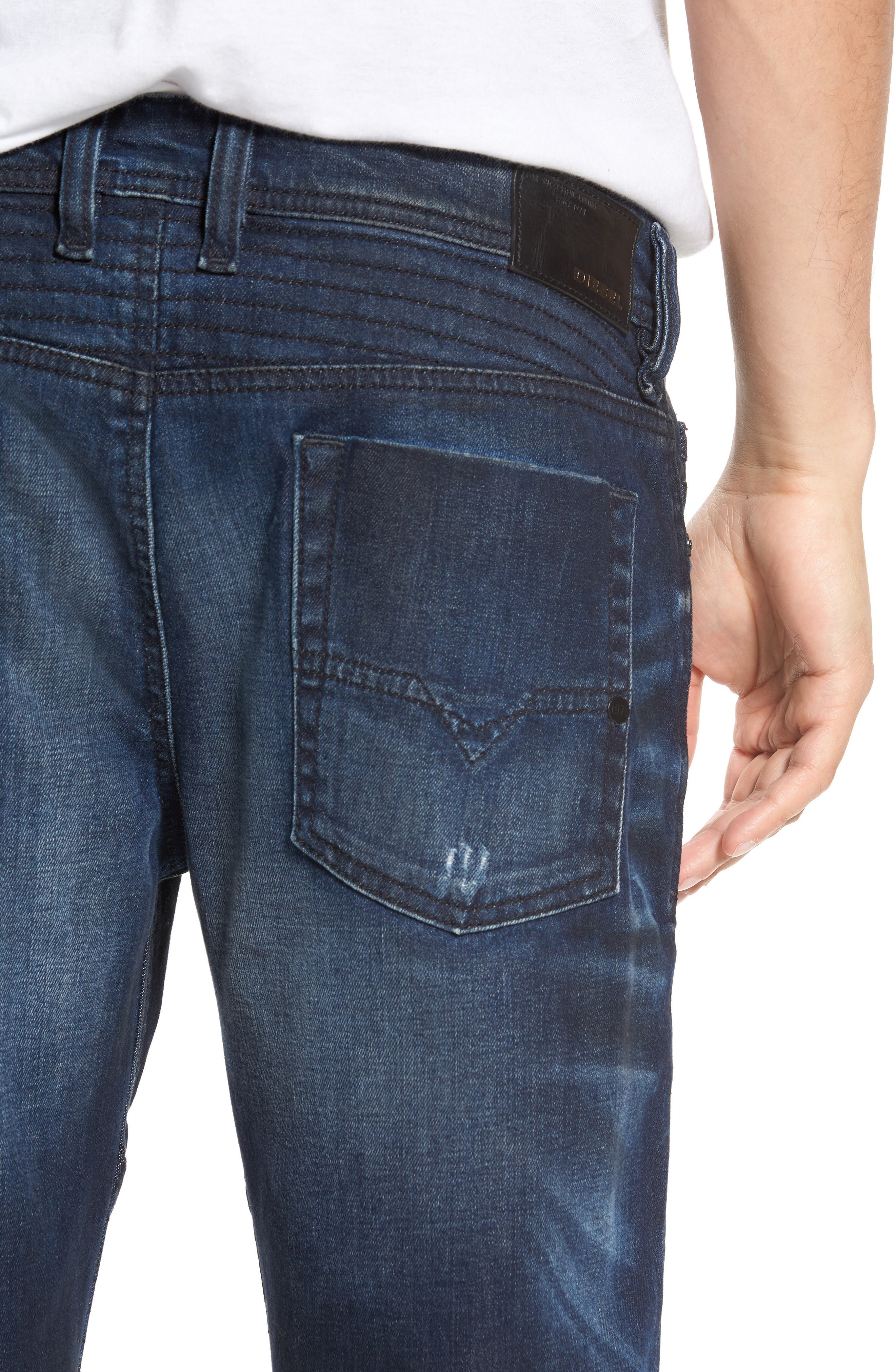 Fourk Skinny Fit Jeans,                             Alternate thumbnail 4, color,                             400