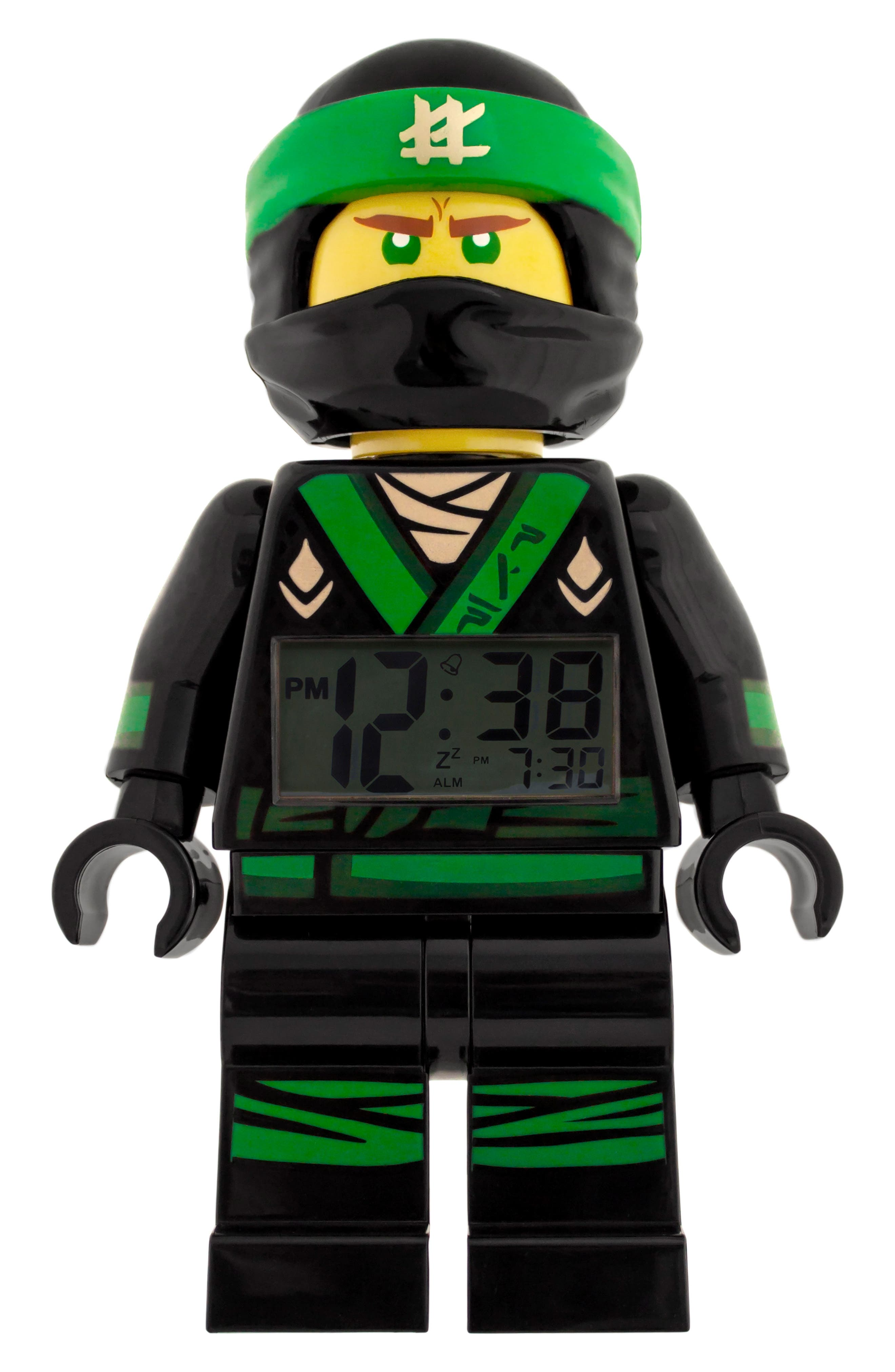 Ninjago Lloyd Digital Alarm Clock Minifigure,                             Main thumbnail 1, color,