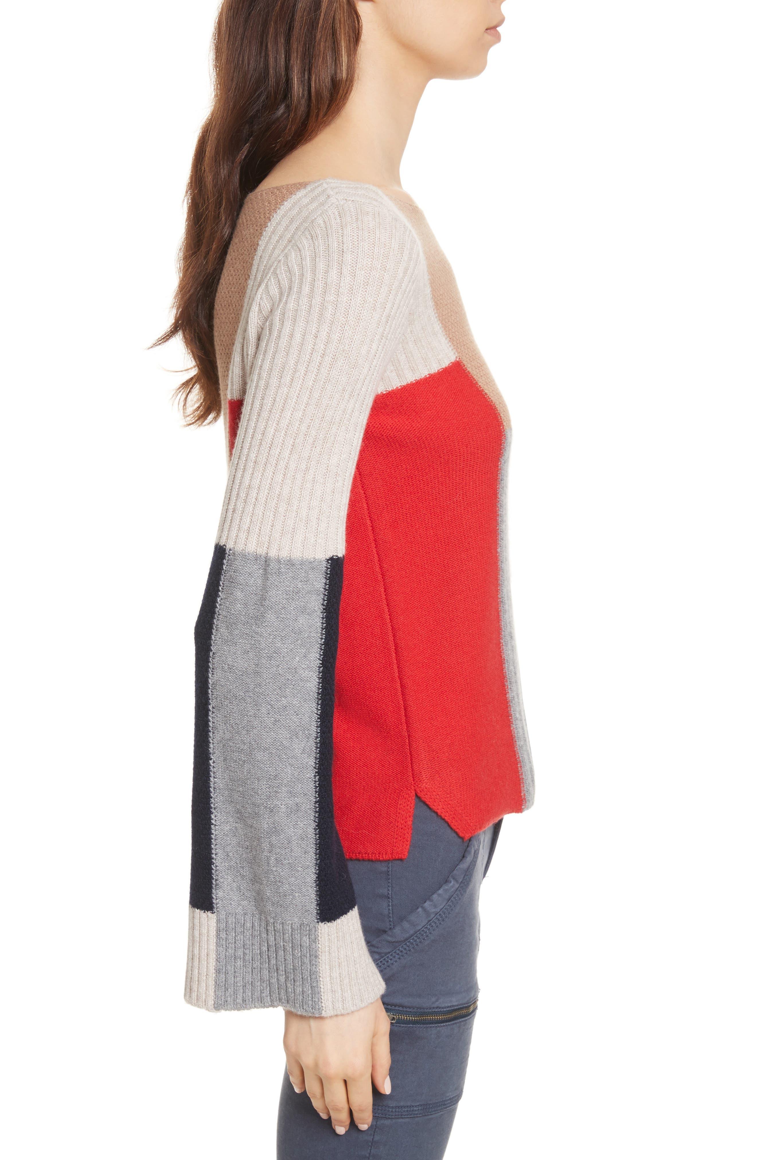 Adene Wool & Cashmere Sweater,                             Alternate thumbnail 3, color,                             641