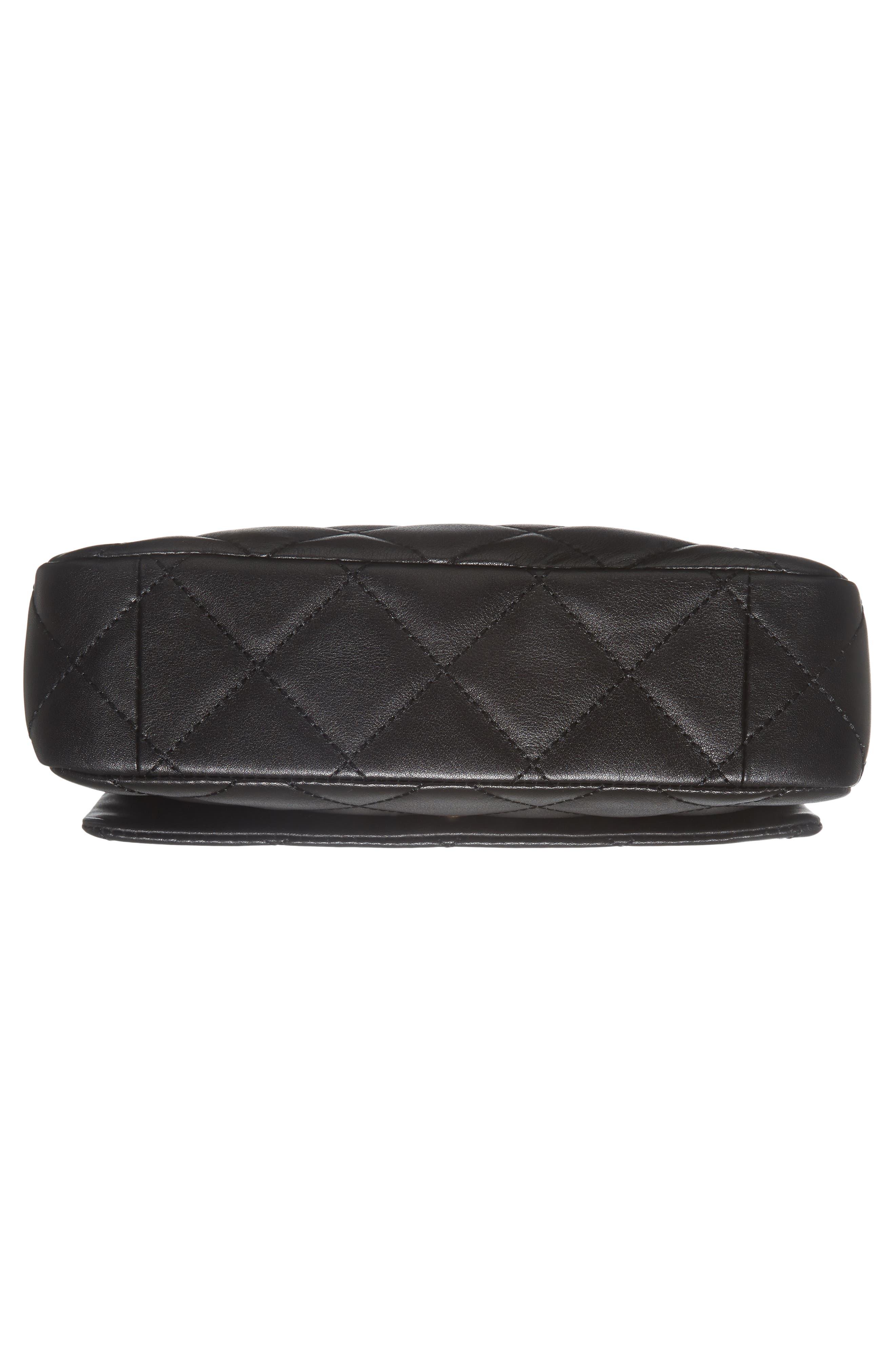 emerson place - serena leather shoulder bag,                             Alternate thumbnail 6, color,                             001