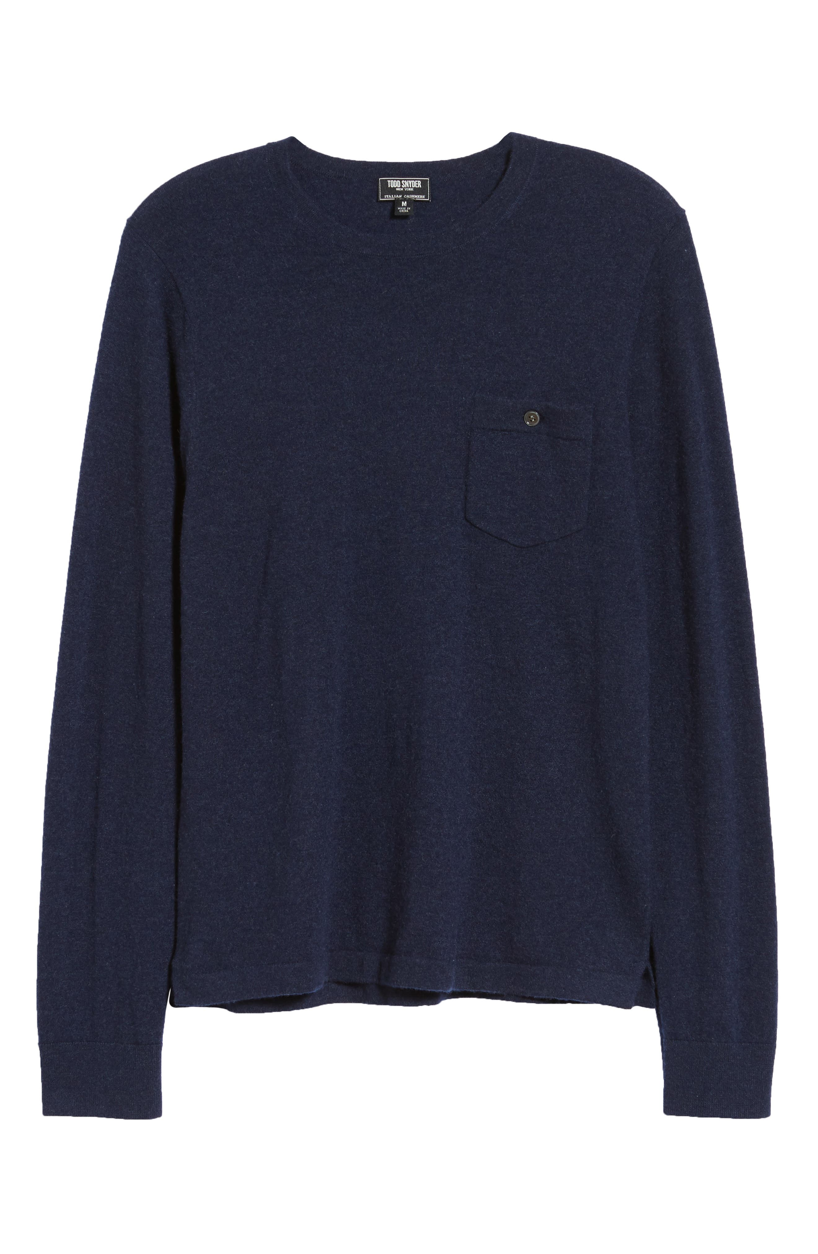 Cashmere Sweater,                             Alternate thumbnail 6, color,                             NAVY/ GREY