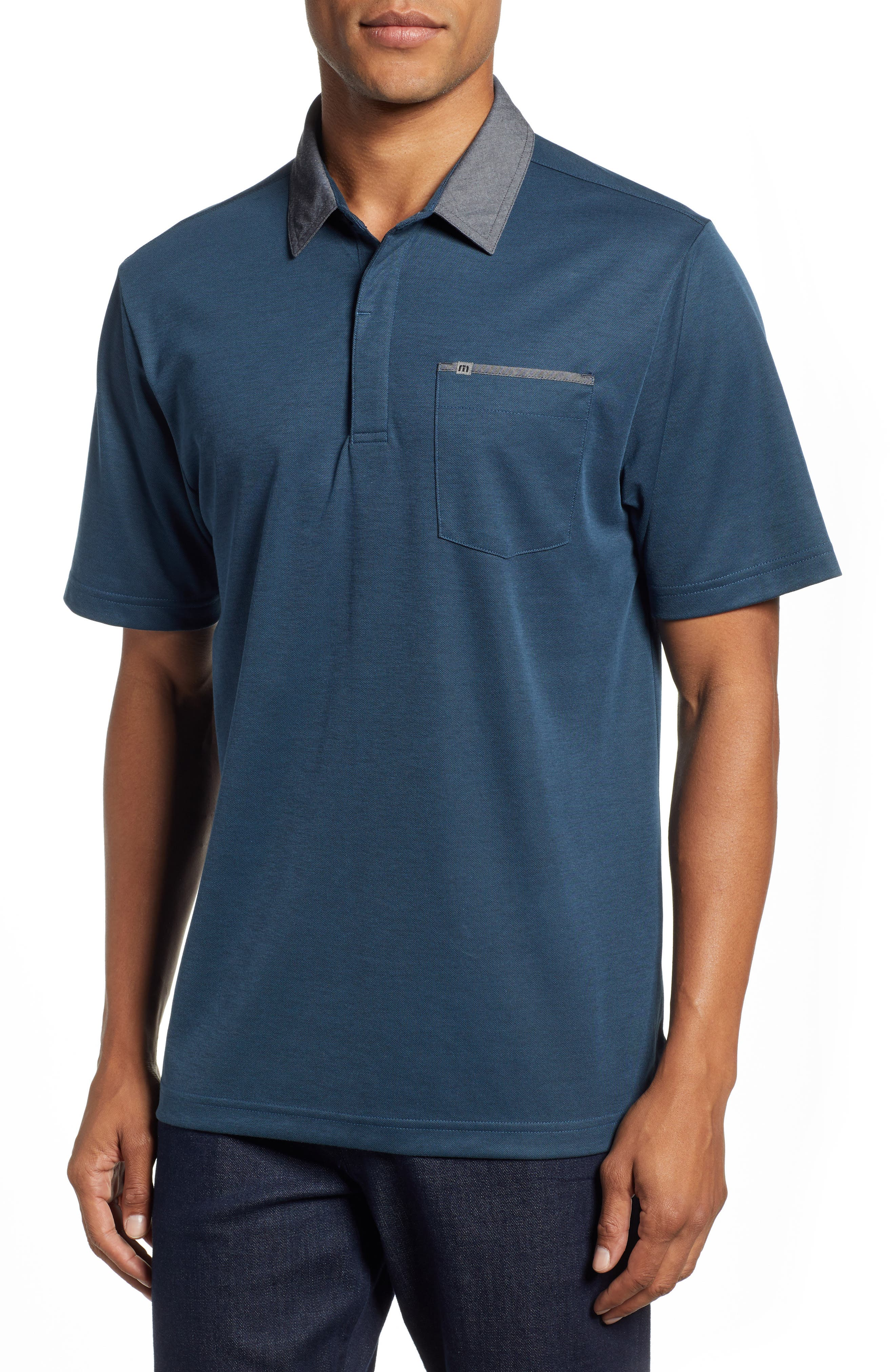 Change the Game Regular Fit Polo,                         Main,                         color, BLUE WING TEAL/ BLACK