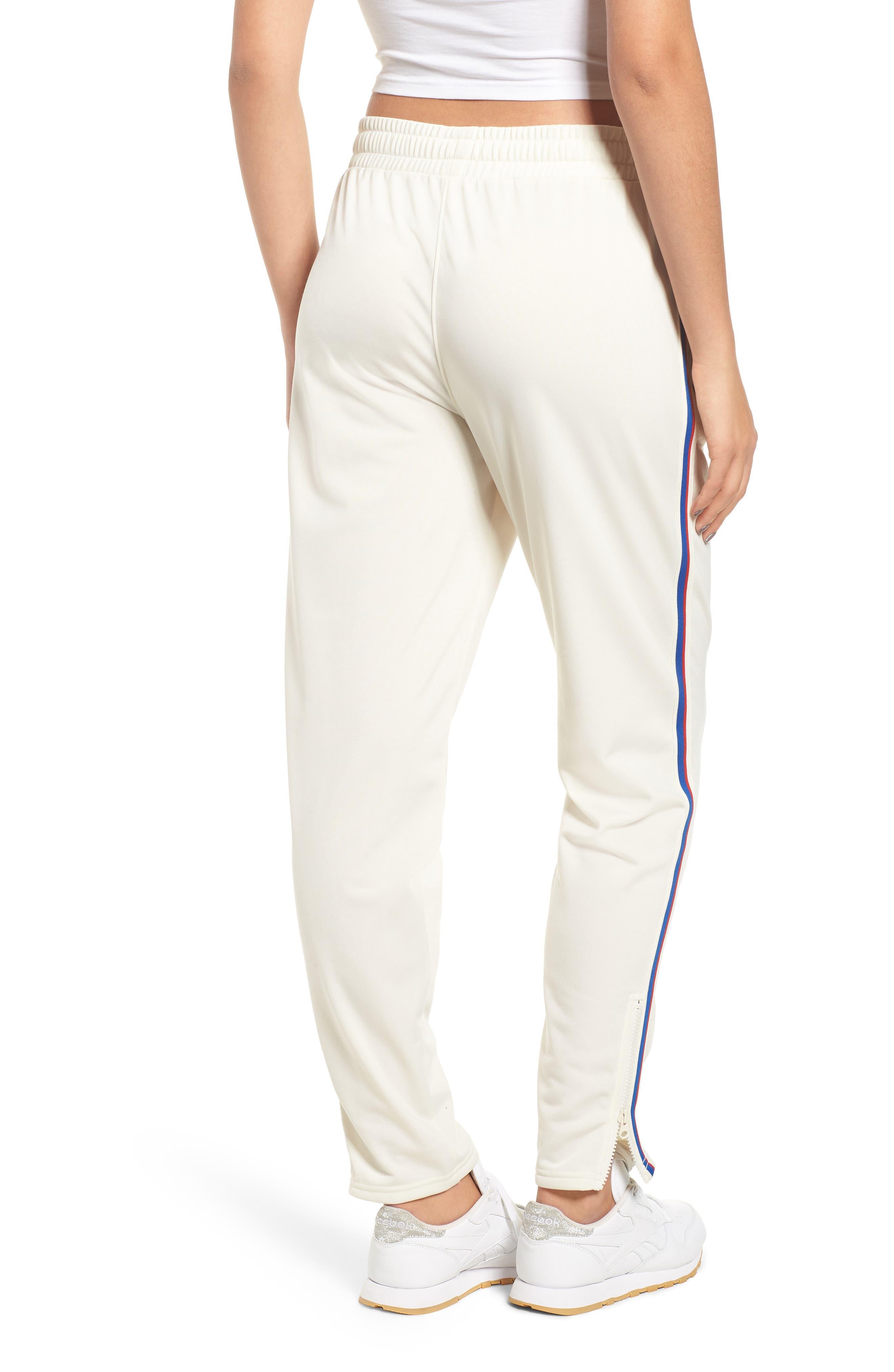 Side Stripe Track Pants,                             Alternate thumbnail 2, color,                             CHALK WHITE