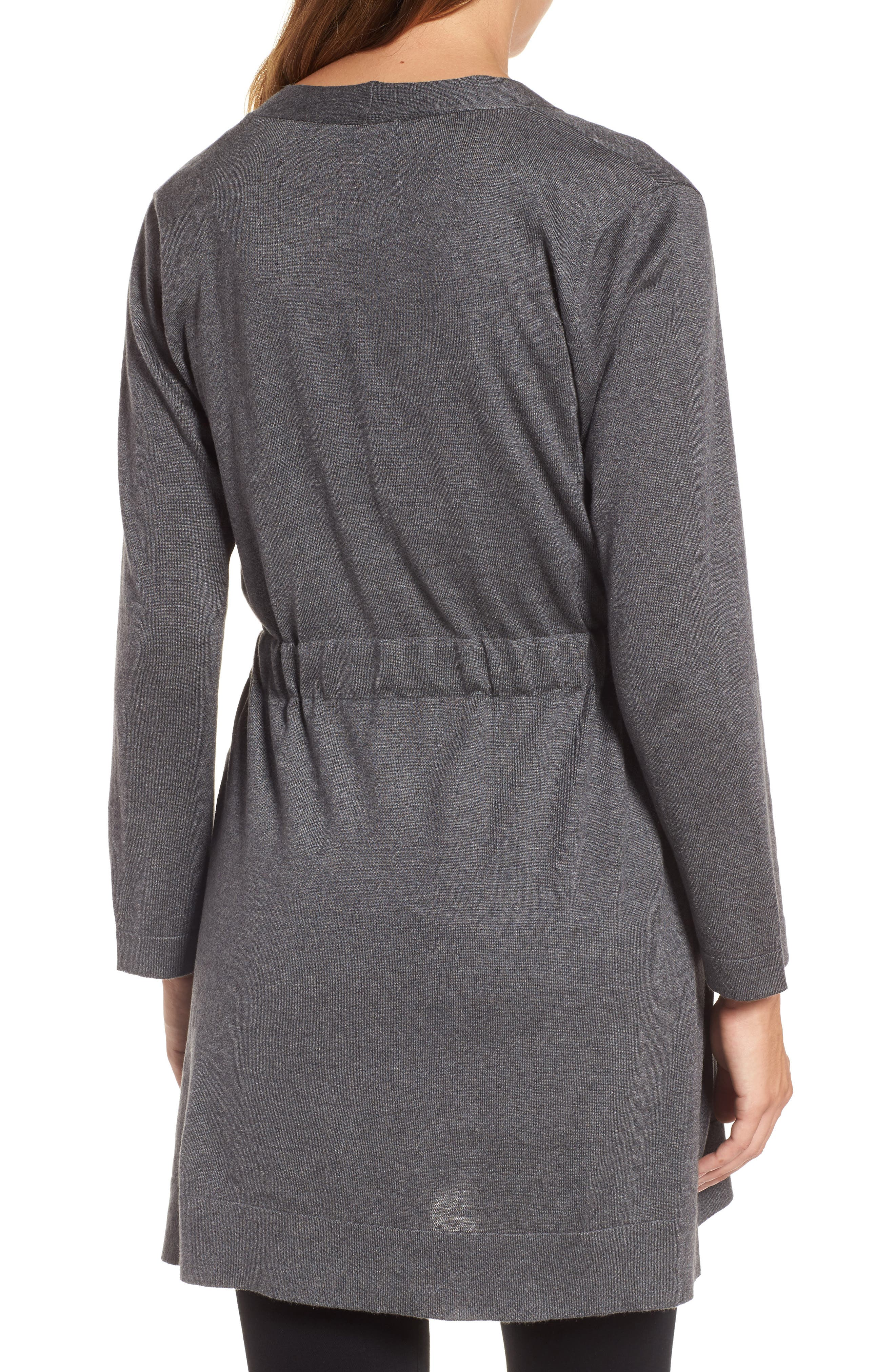 Tie Waist Tencel<sup>®</sup> Lyocell Blend Cardigan,                             Alternate thumbnail 8, color,