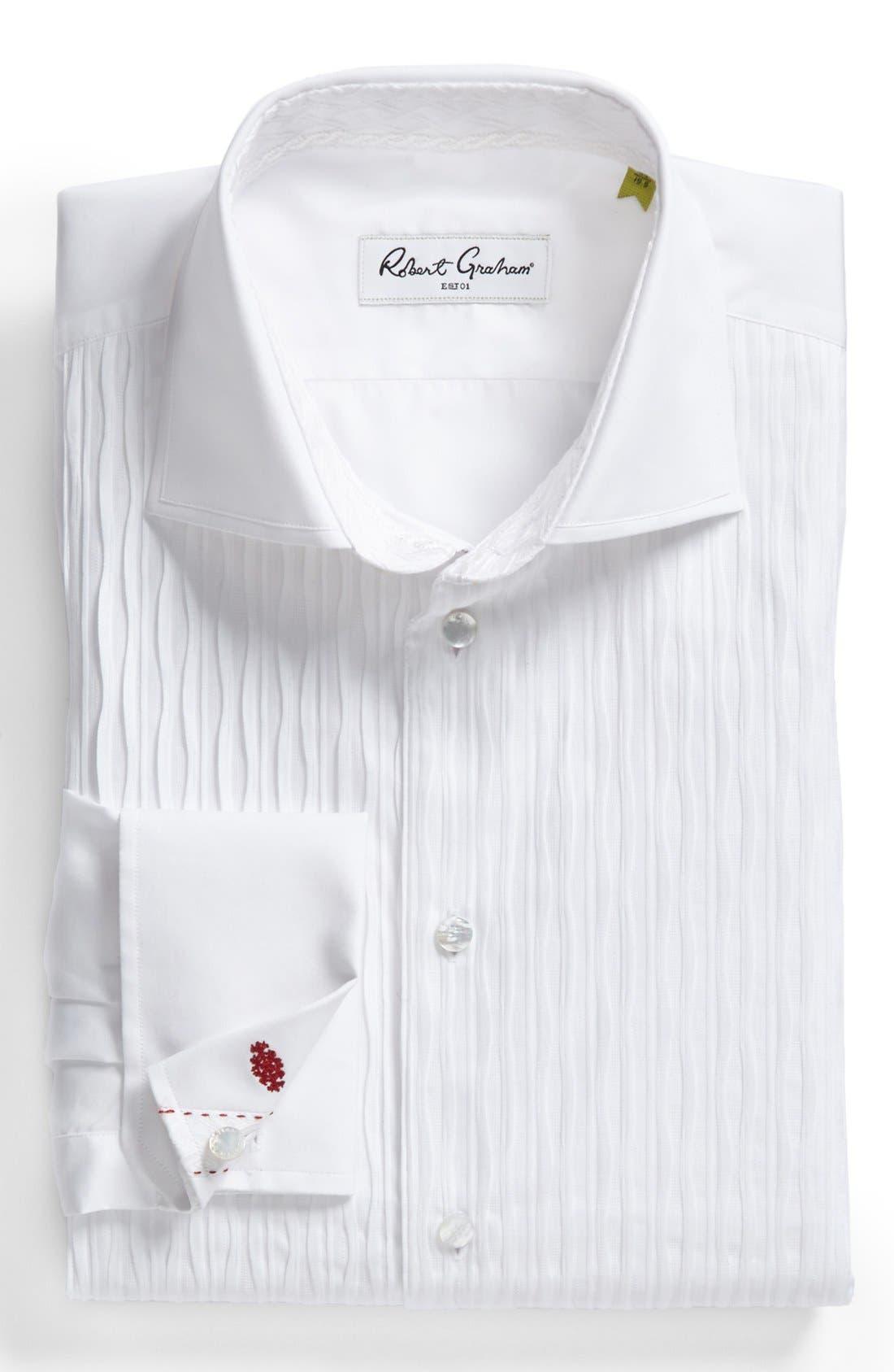 Regular Fit Tuxedo Shirt,                             Main thumbnail 1, color,                             100